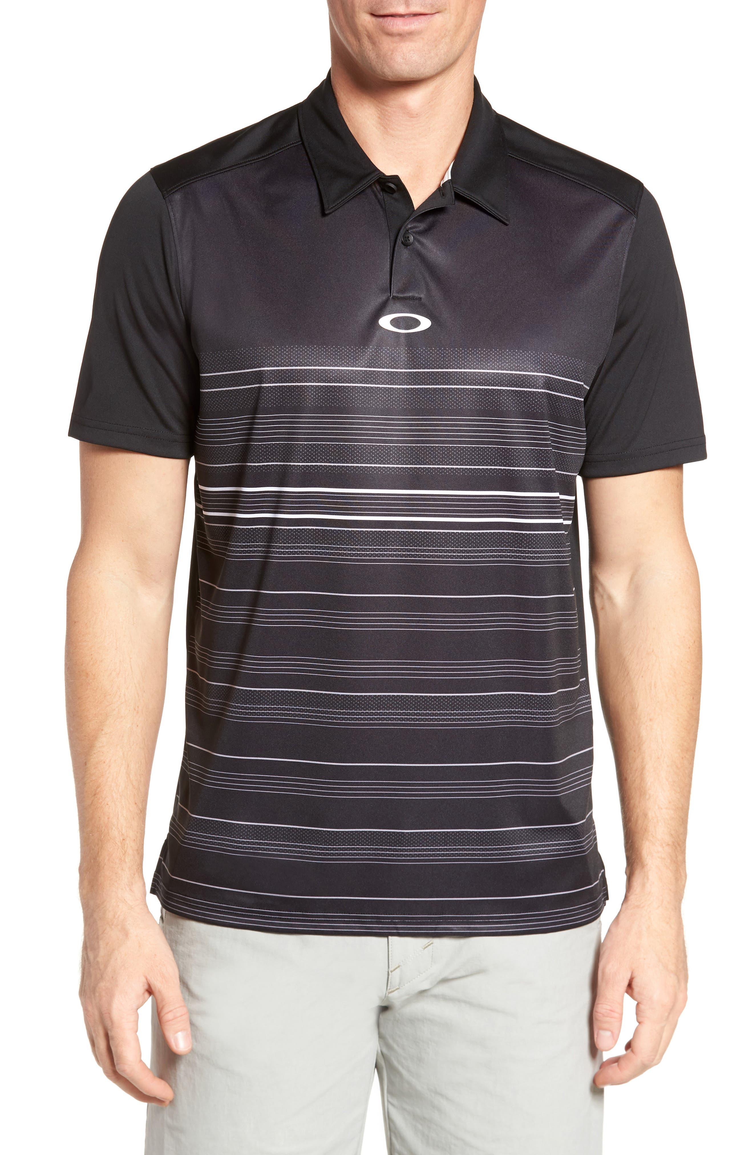 High Crest Polo Shirt,                             Main thumbnail 1, color,                             Blackout