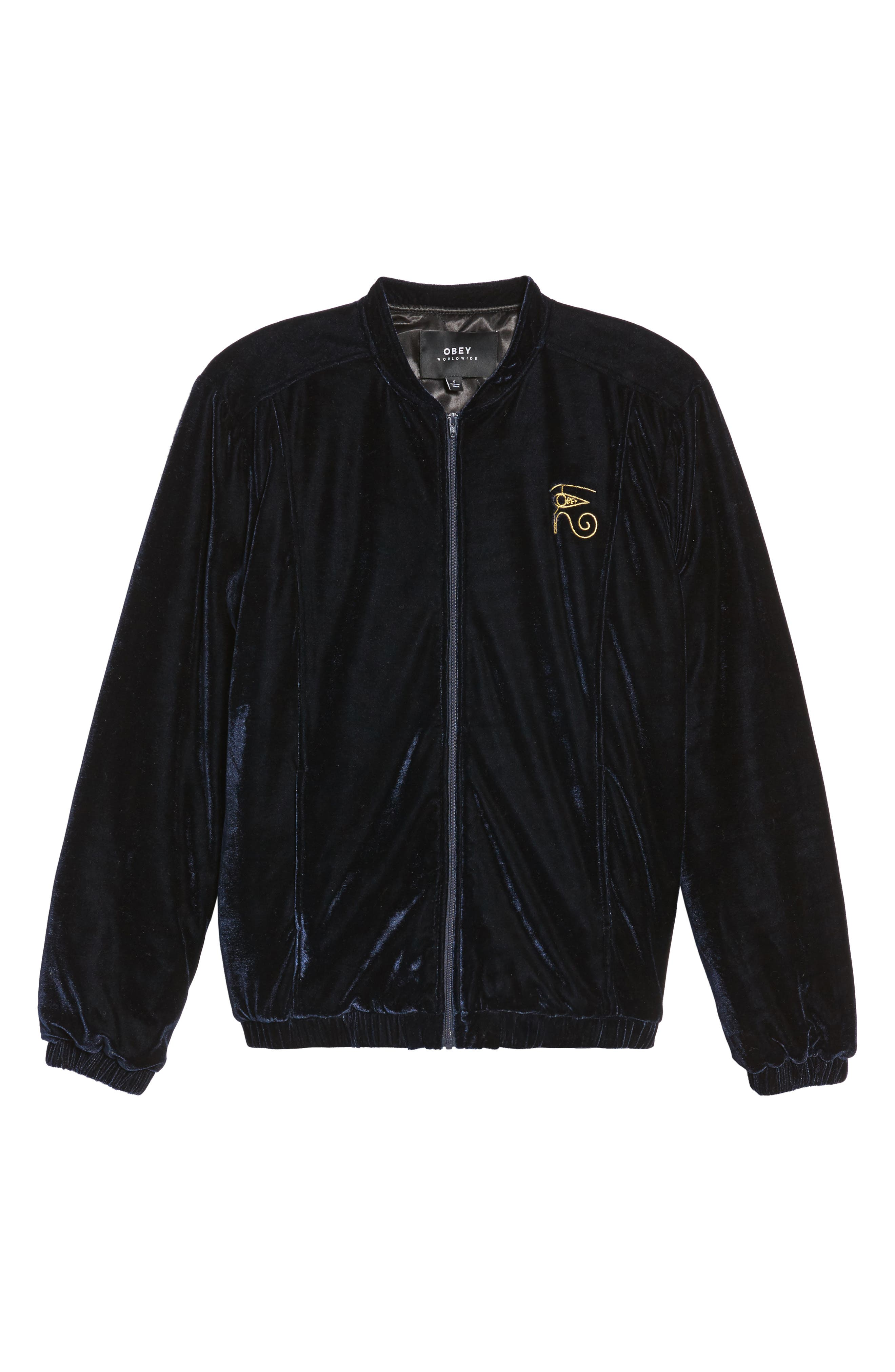 Alternate Image 3  - Obey Spades Velvet Jacket