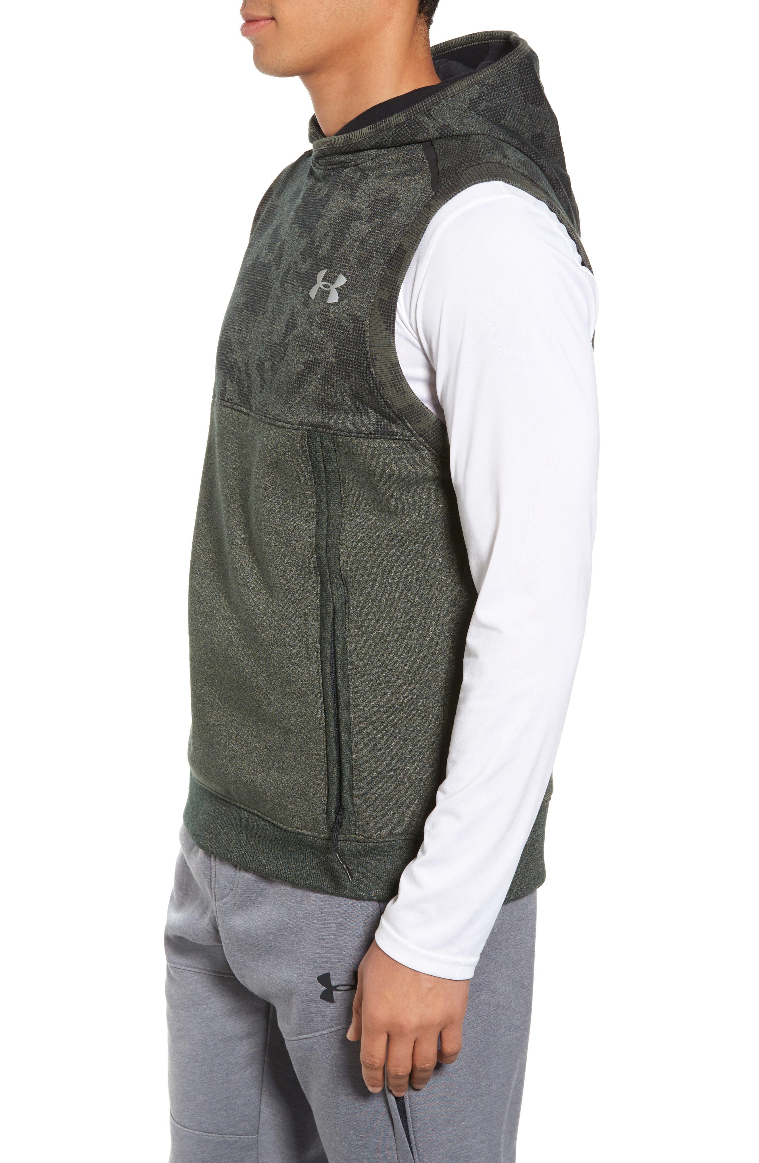 Threadborne Hooded Vest,                             Alternate thumbnail 3, color,                             Downtown Green / Refletive