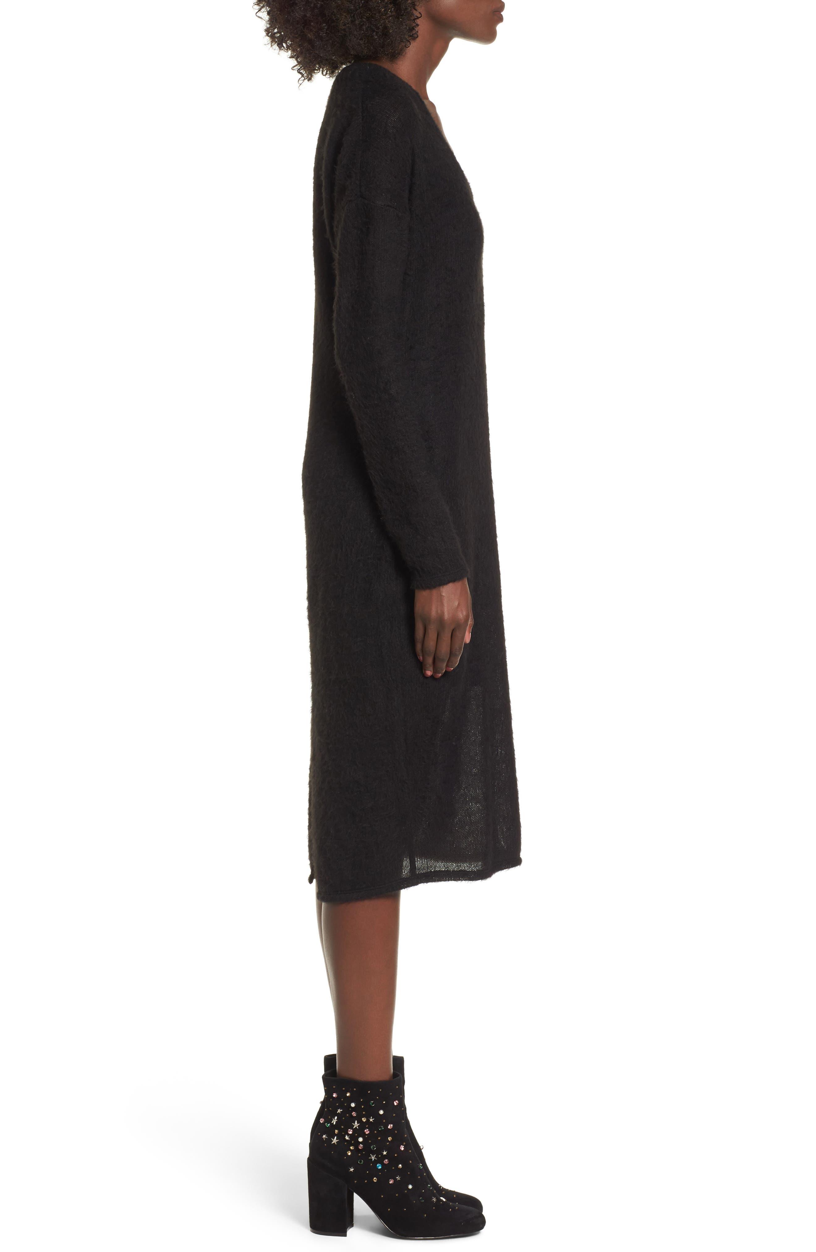 Alternate Image 3  - Socialite Fuzzy Sweater Midi Dress