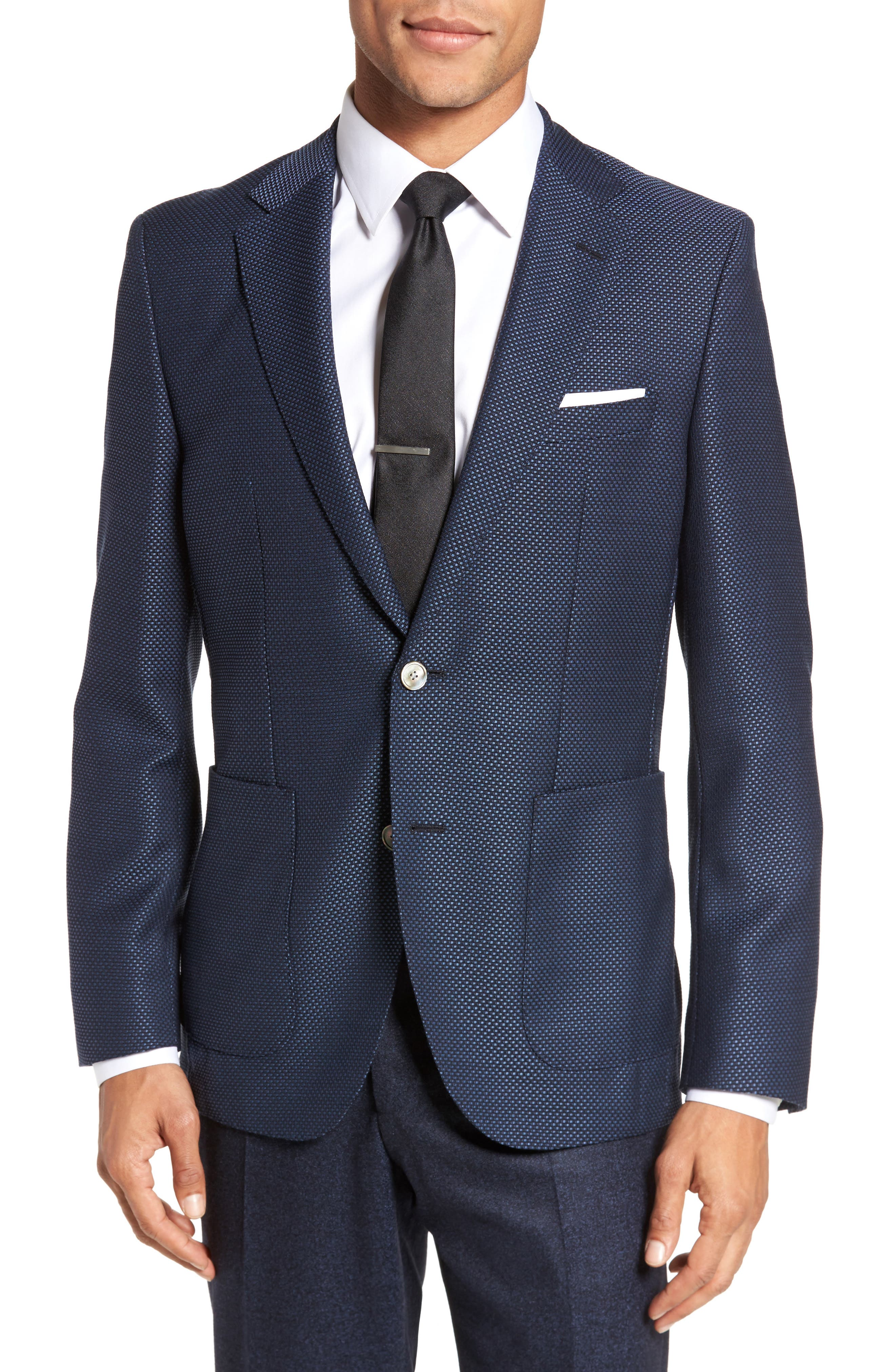 Janson Classic Fit Wool Blazer,                         Main,                         color, Medium Blue