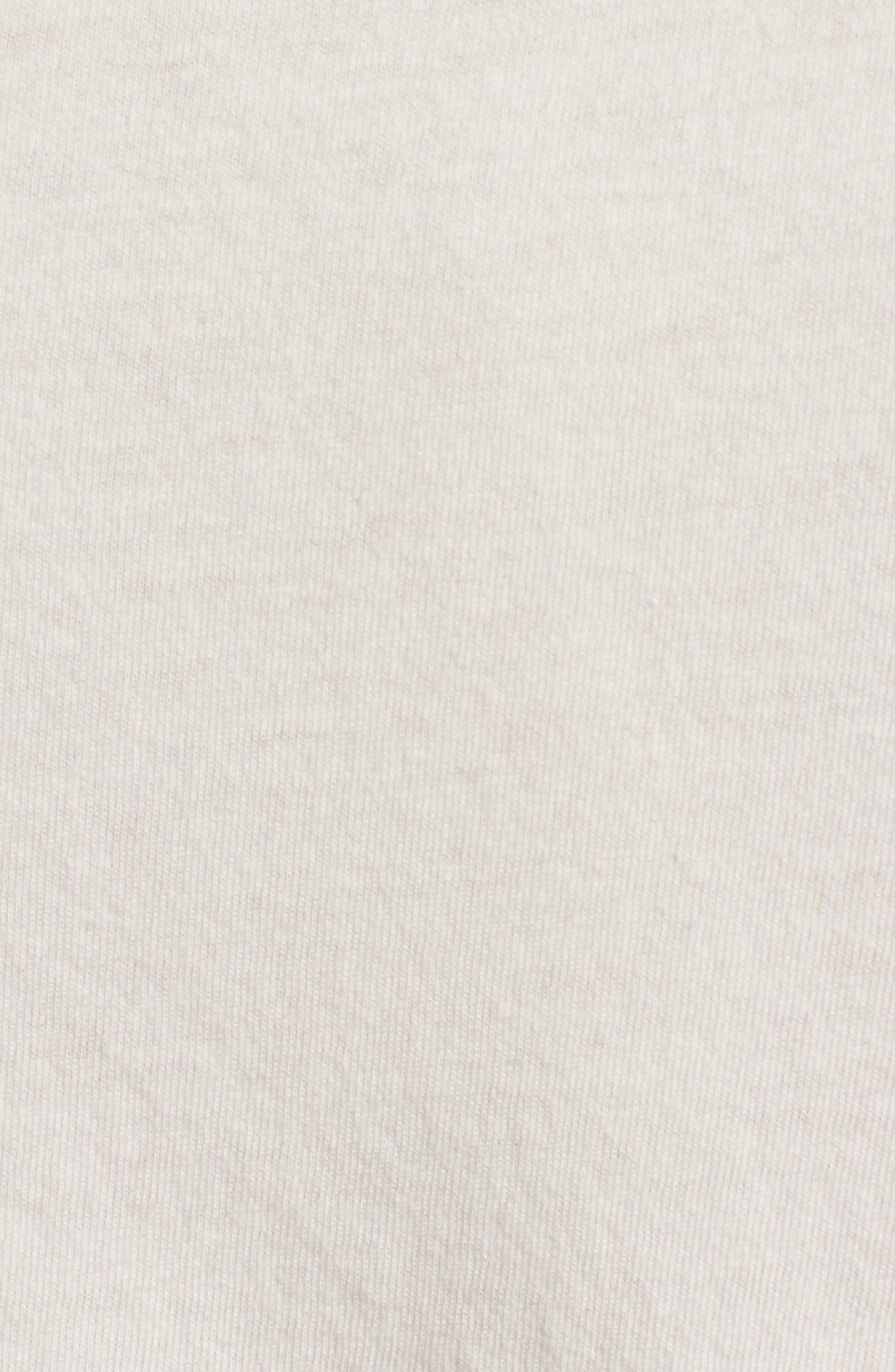 Pow Pow Crew Graphic T-Shirt,                             Alternate thumbnail 5, color,                             Dirty White