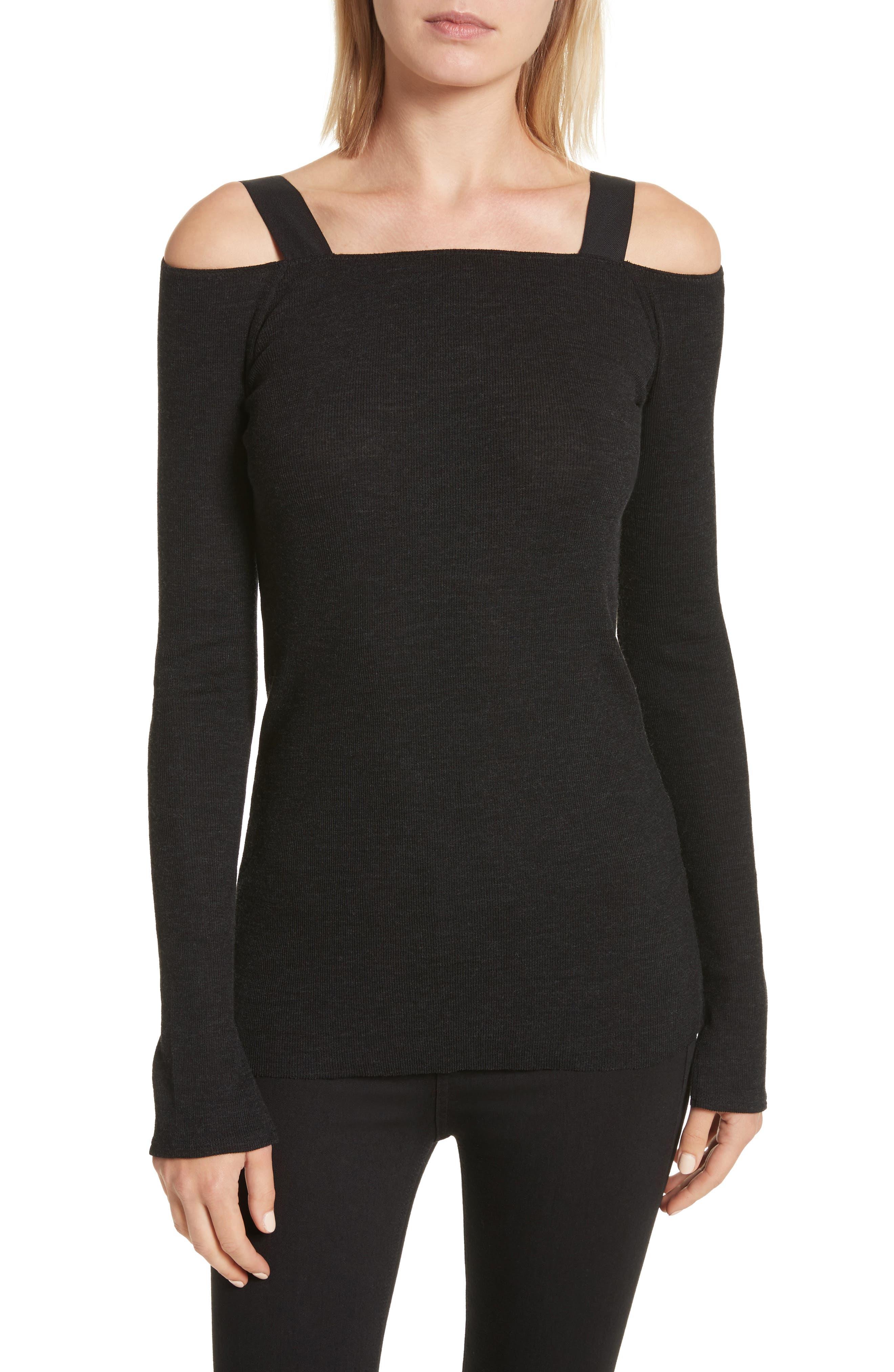 Surplus Off the Shoulder Knit Top,                         Main,                         color, Black