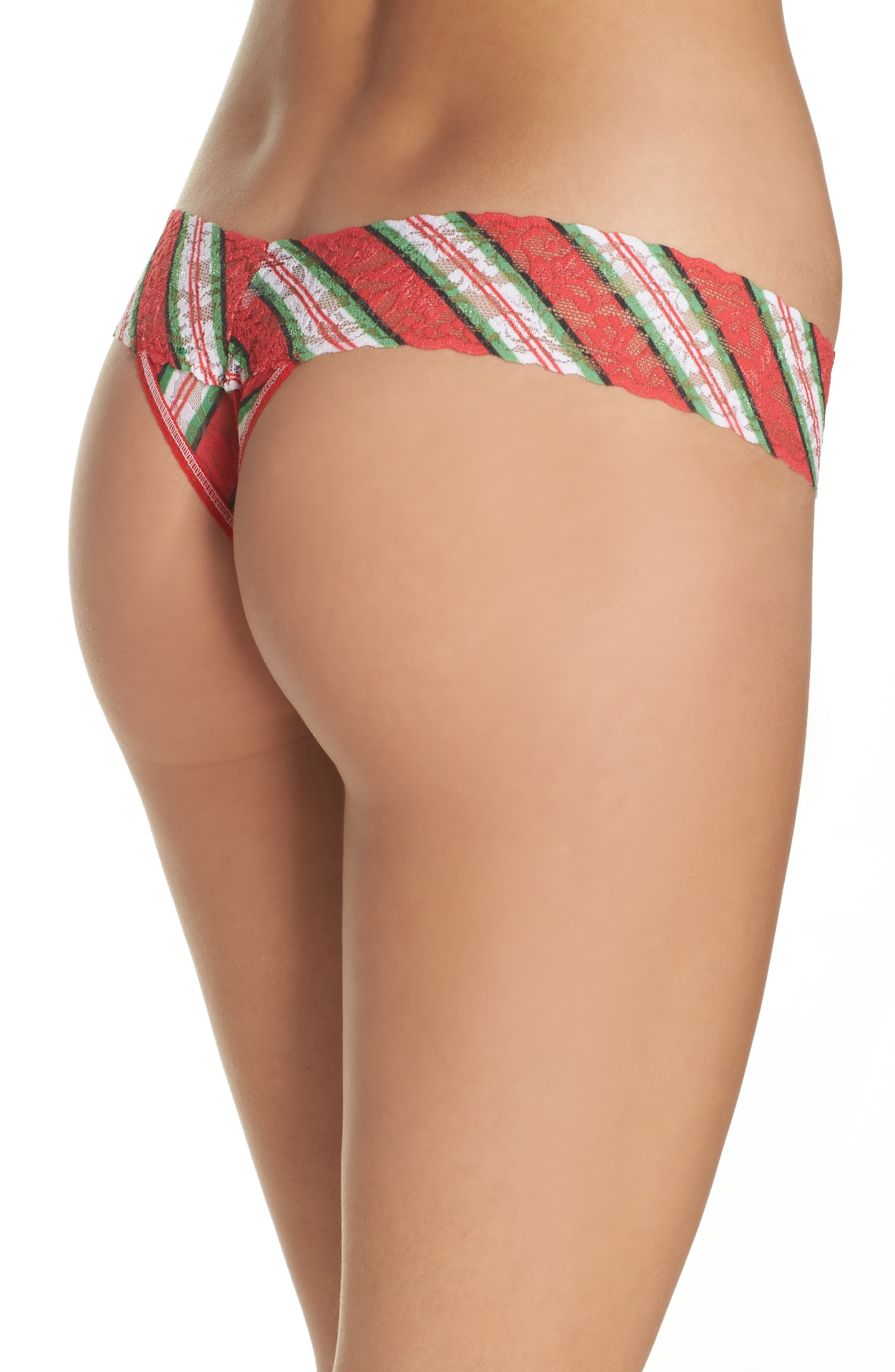 It's a Wrap Low Rise Thong,                             Alternate thumbnail 2, color,                             Red Multi