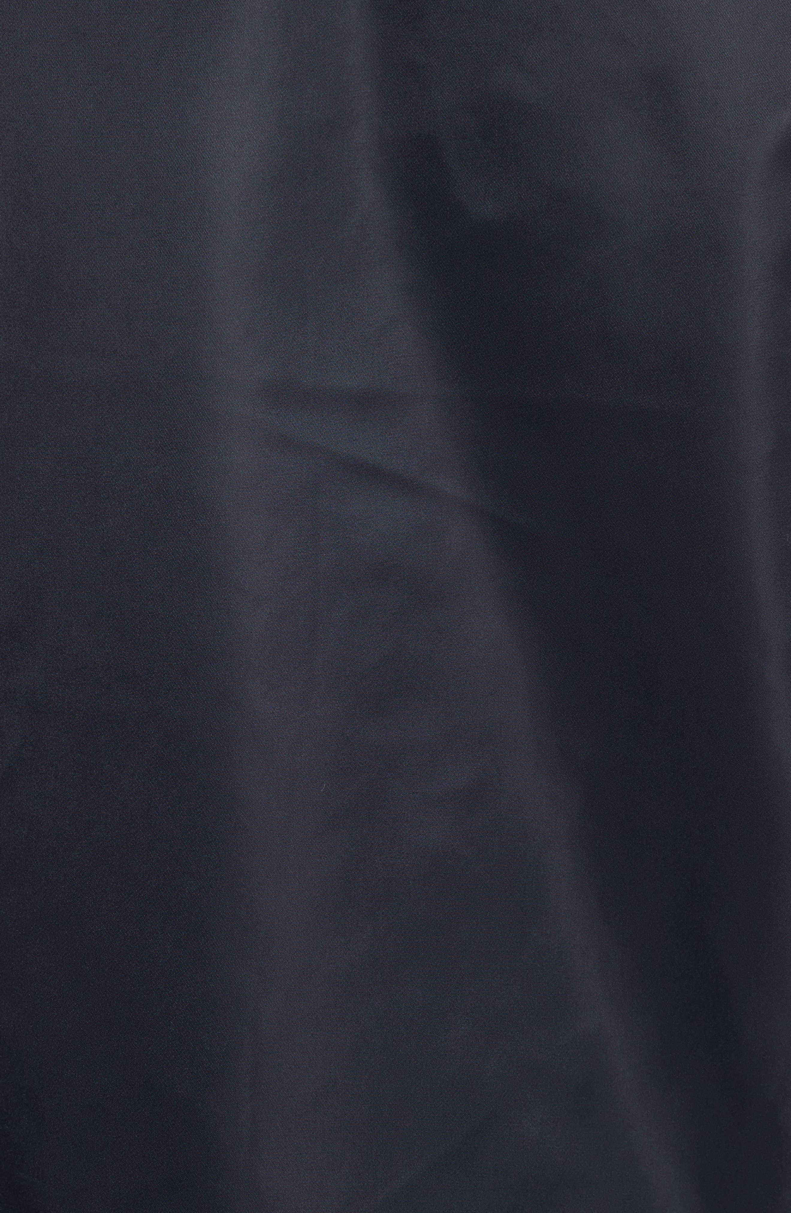 Nylon Bomber Jacket,                             Alternate thumbnail 7, color,                             Steel Blue