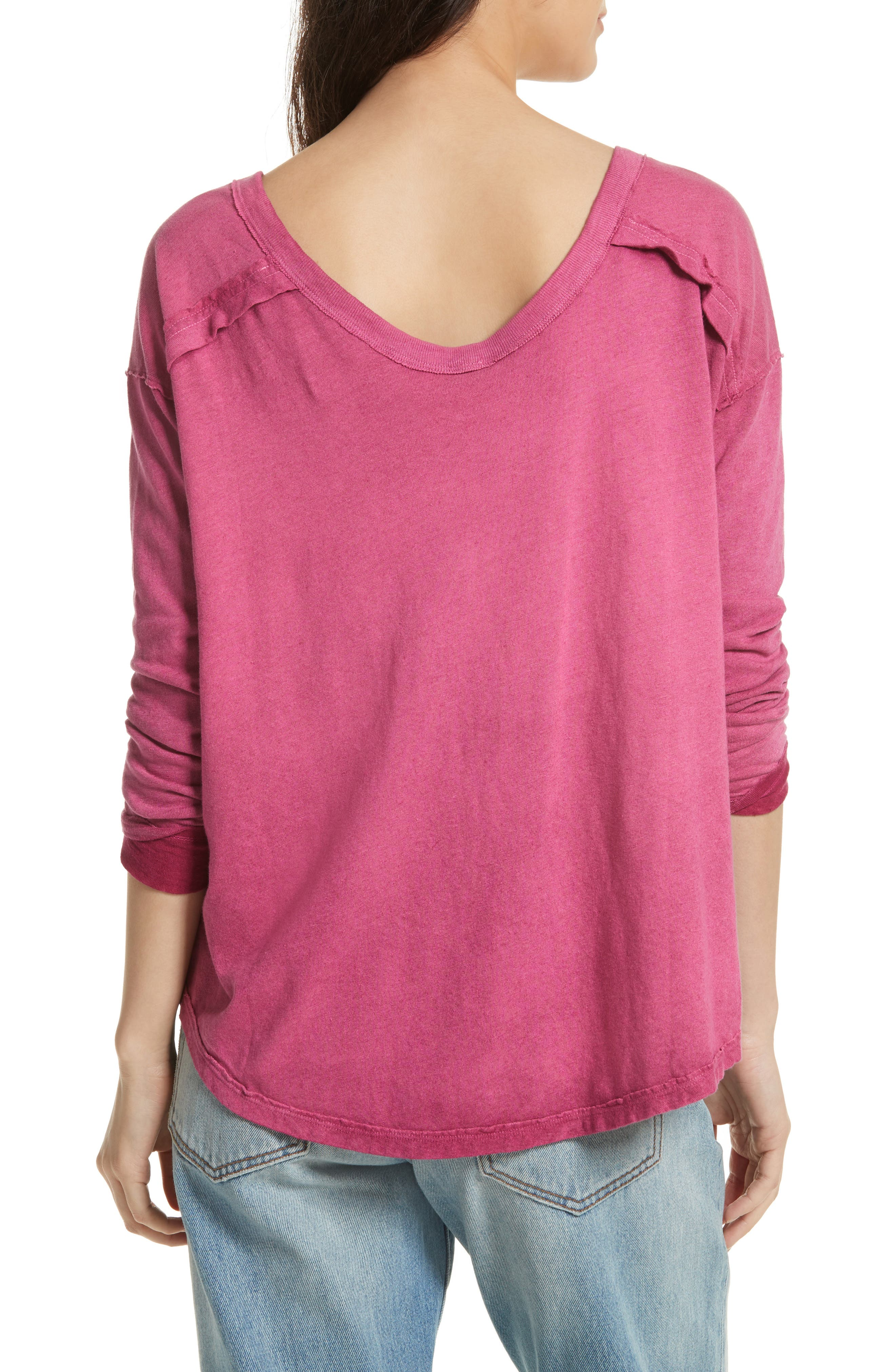 Alternate Image 2  - Free People First Love Lace-Up Tee