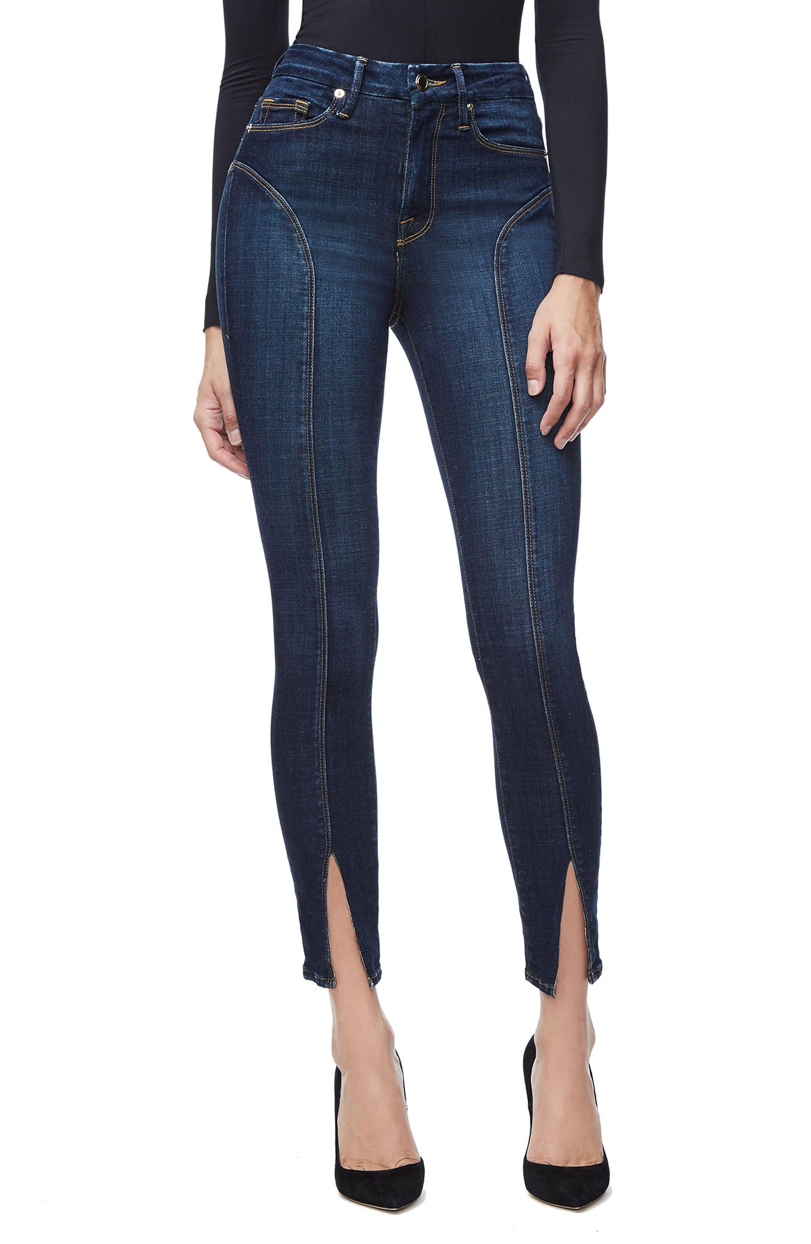 Good Legs Crop Skinny Jeans,                         Main,                         color, Blue025