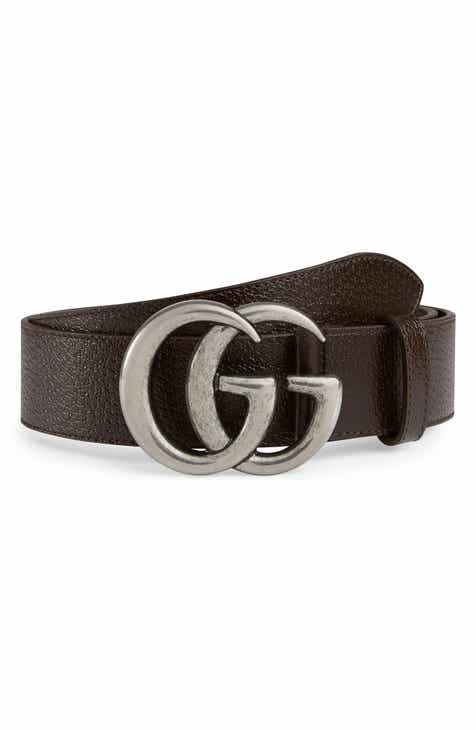 5b70d856f66 Gucci GG Pebbled Leather Belt