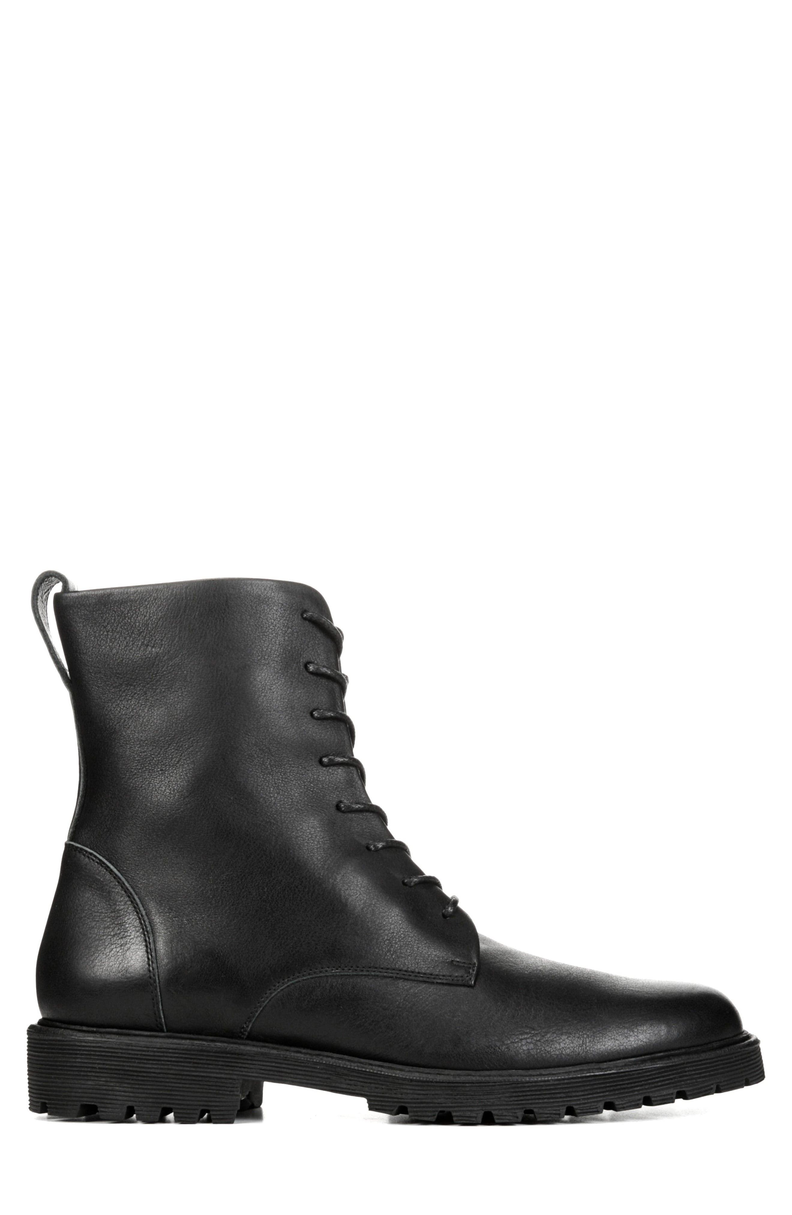 Brigade Plain Toe Boot,                             Alternate thumbnail 3, color,                             Black