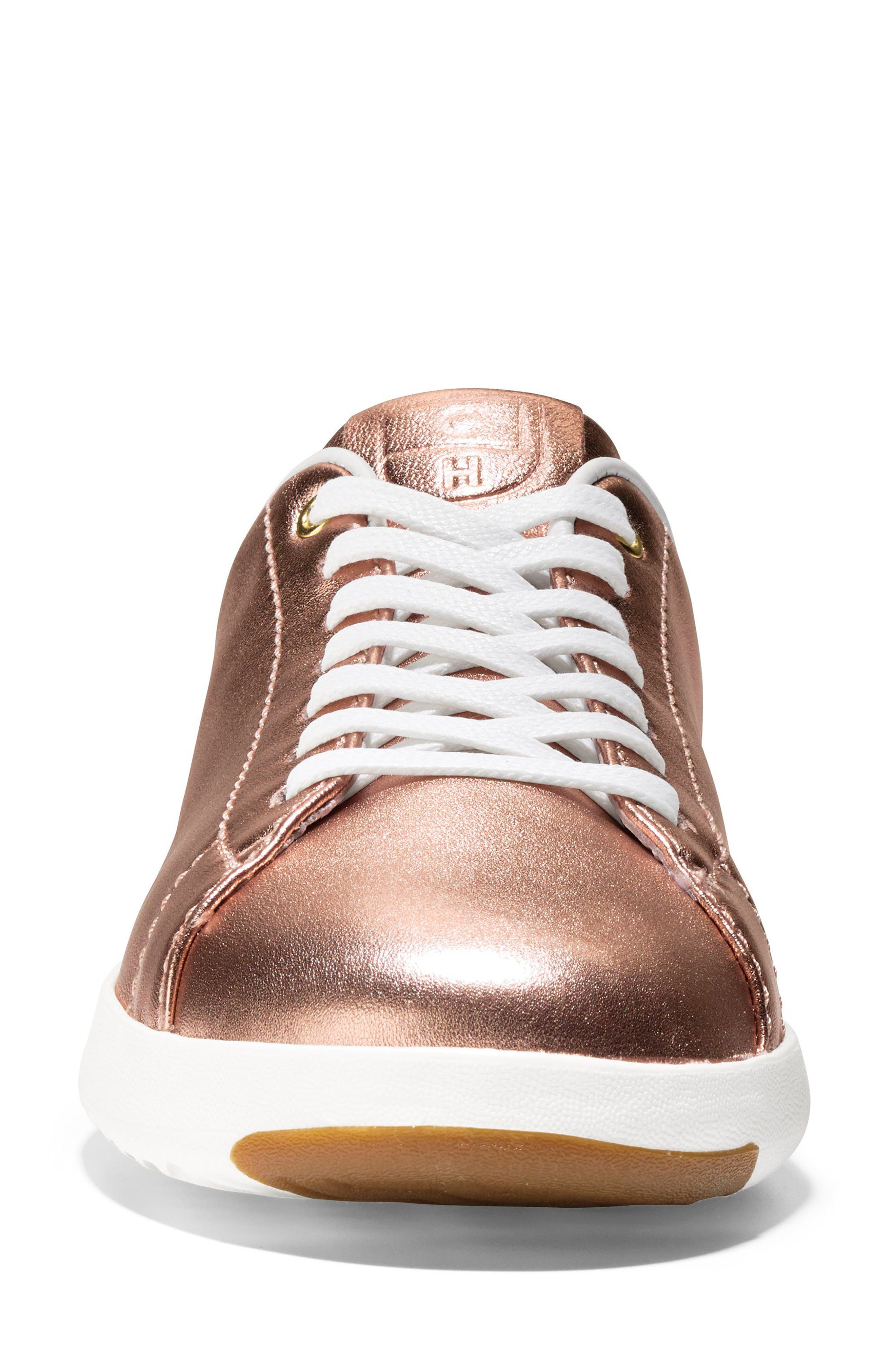 GrandPro Tennis Shoe,                             Alternate thumbnail 4, color,                             Rose Gold Leather