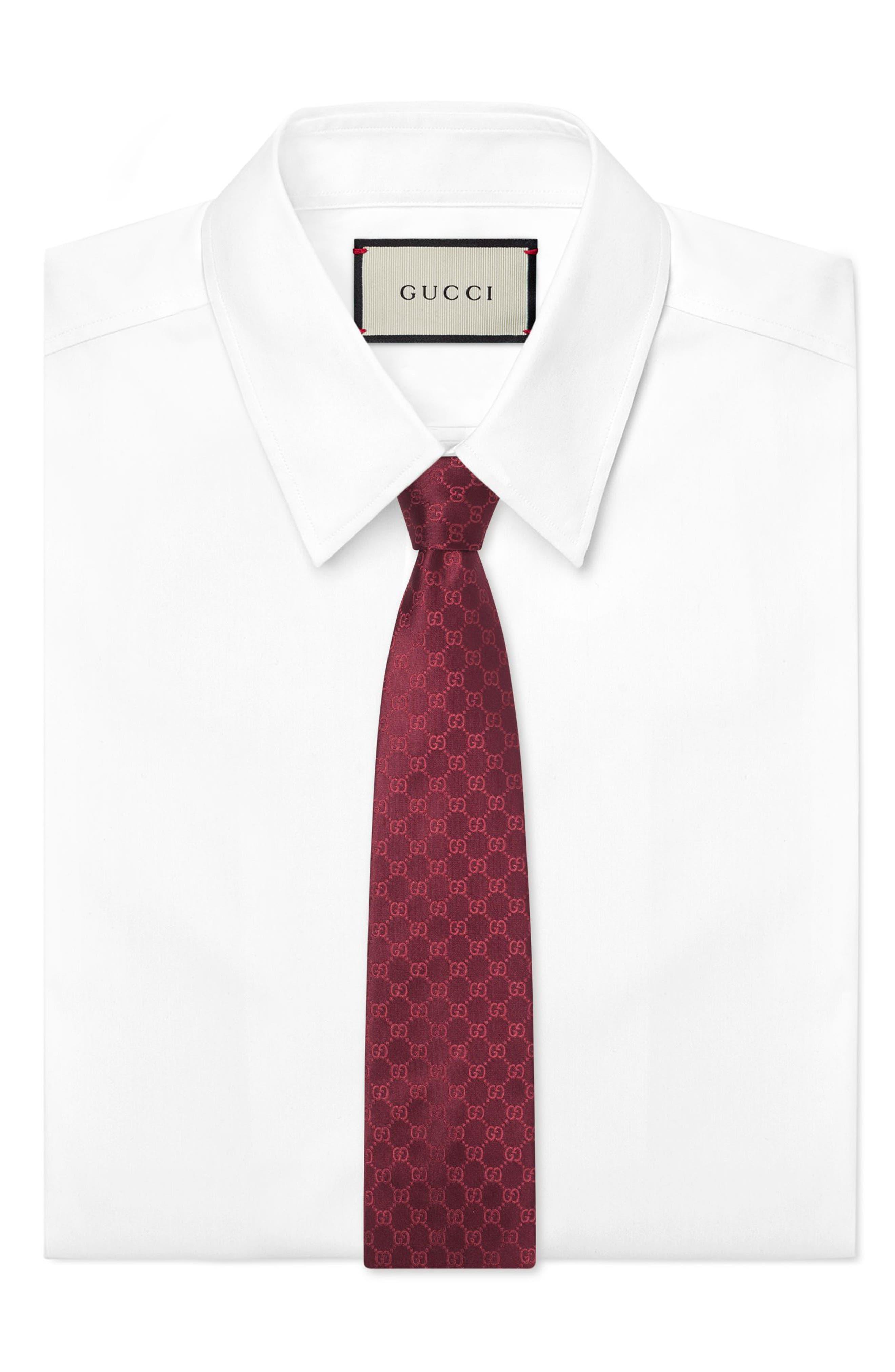 Alternate Image 2  - Gucci Fedra Silk Jacquard Tie