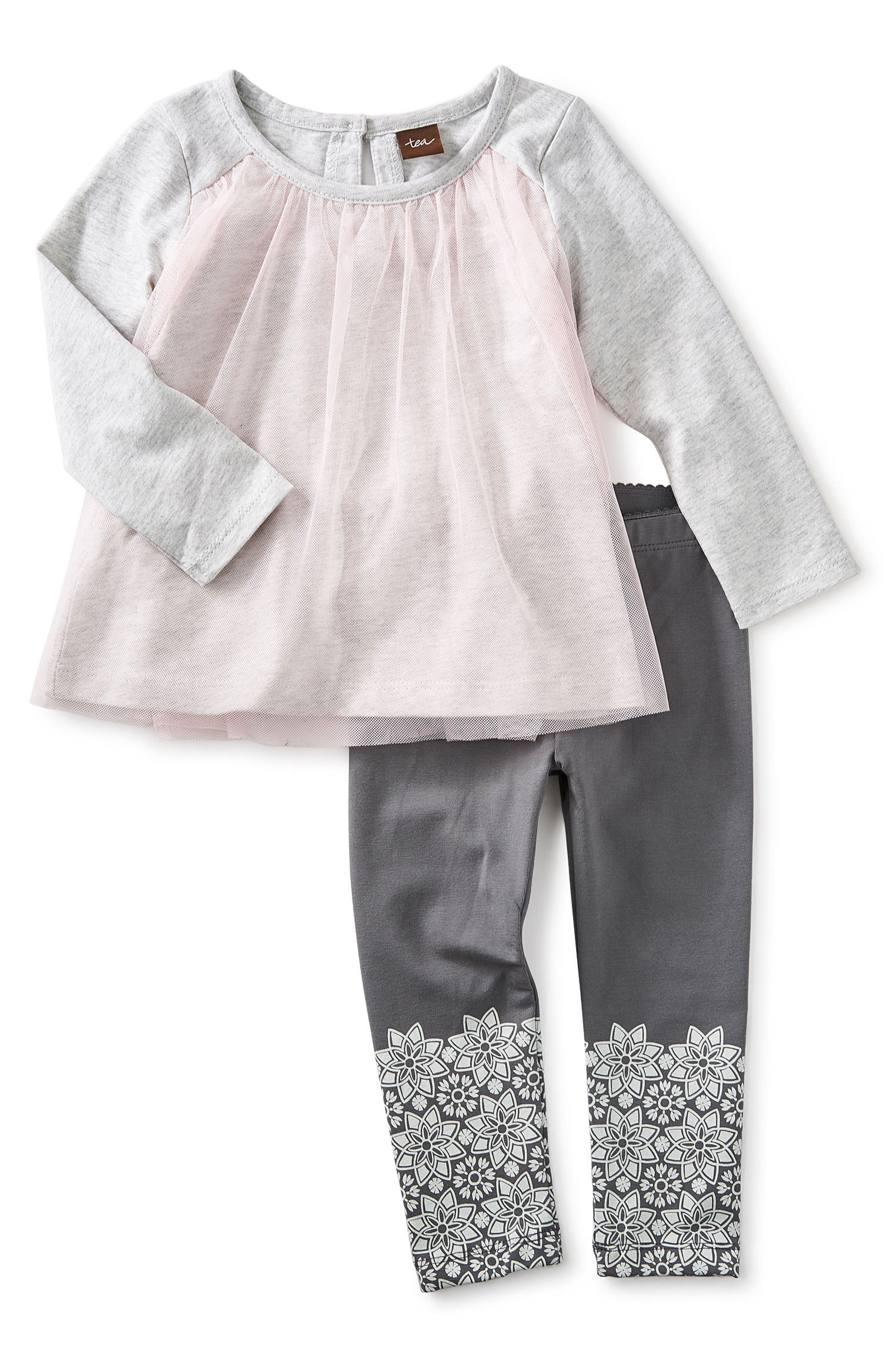 Tea Collection Mackenzie Tulle Tunic & Leggings Set (Baby Girls & Toddler Girls)