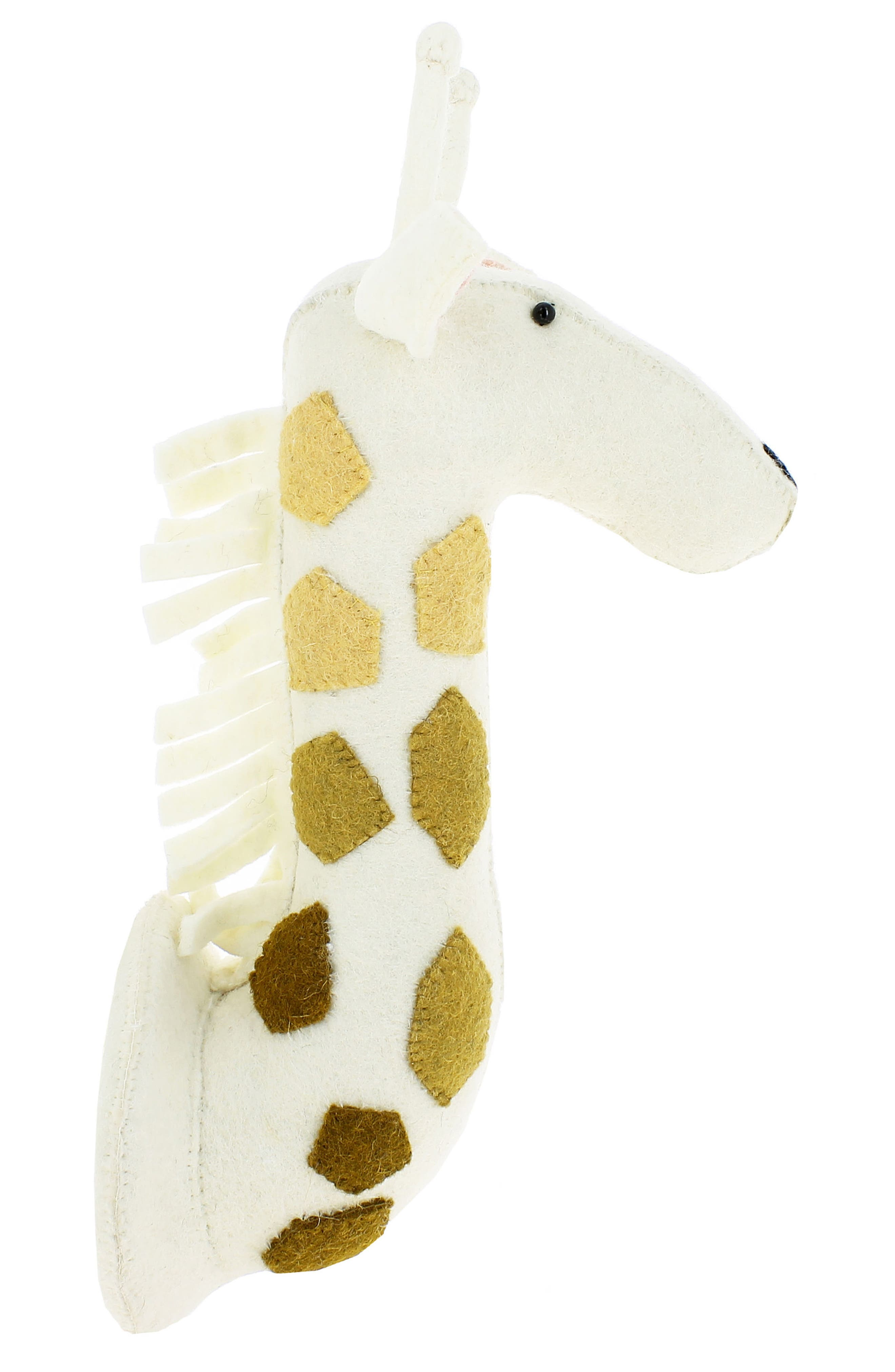 Ombré Spot Giraffe Head Wall Art,                             Alternate thumbnail 4, color,                             Cream