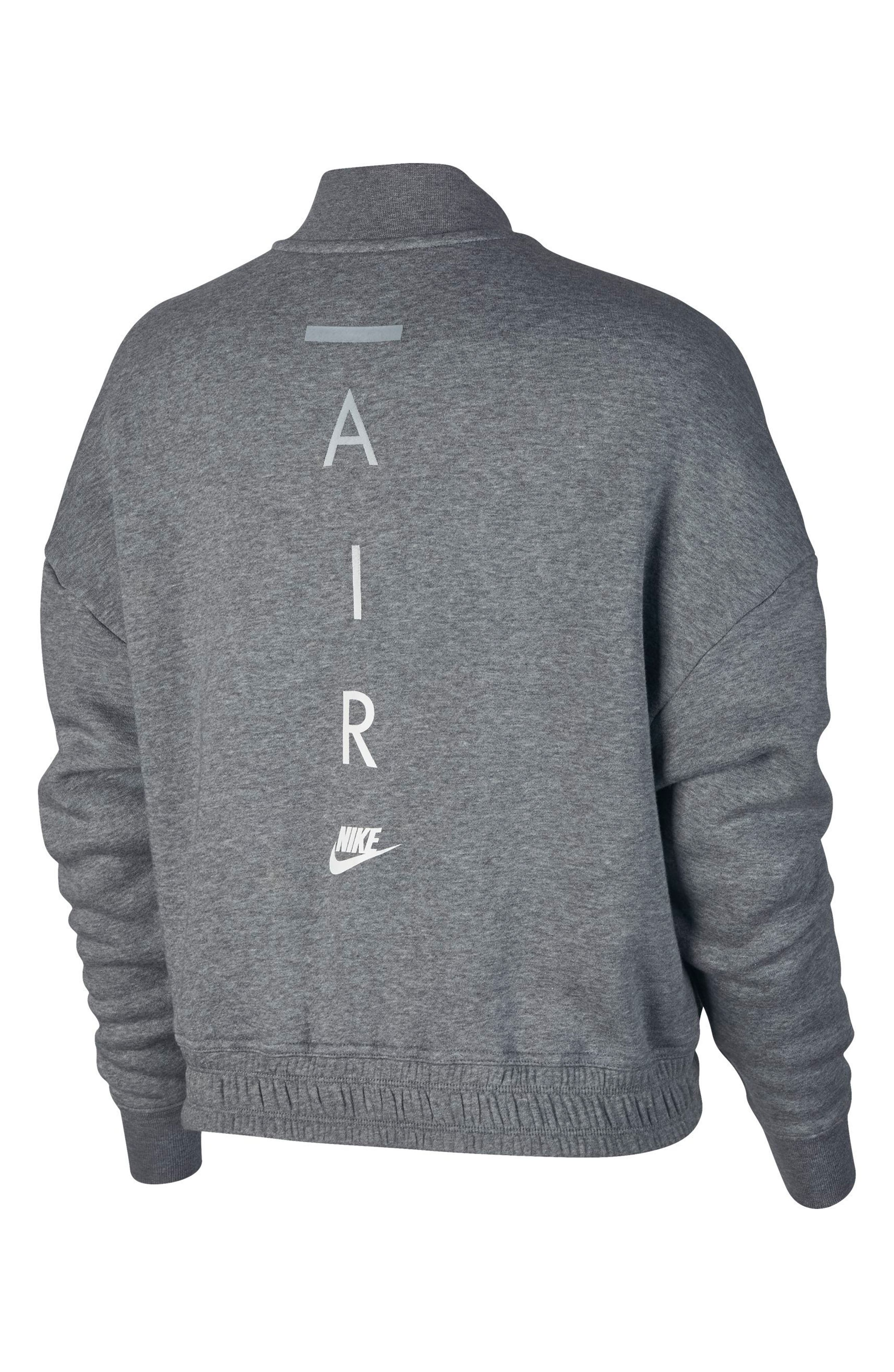 Sportswear Rally Jacket,                             Alternate thumbnail 7, color,                             Carbon Heather/ Cool Grey