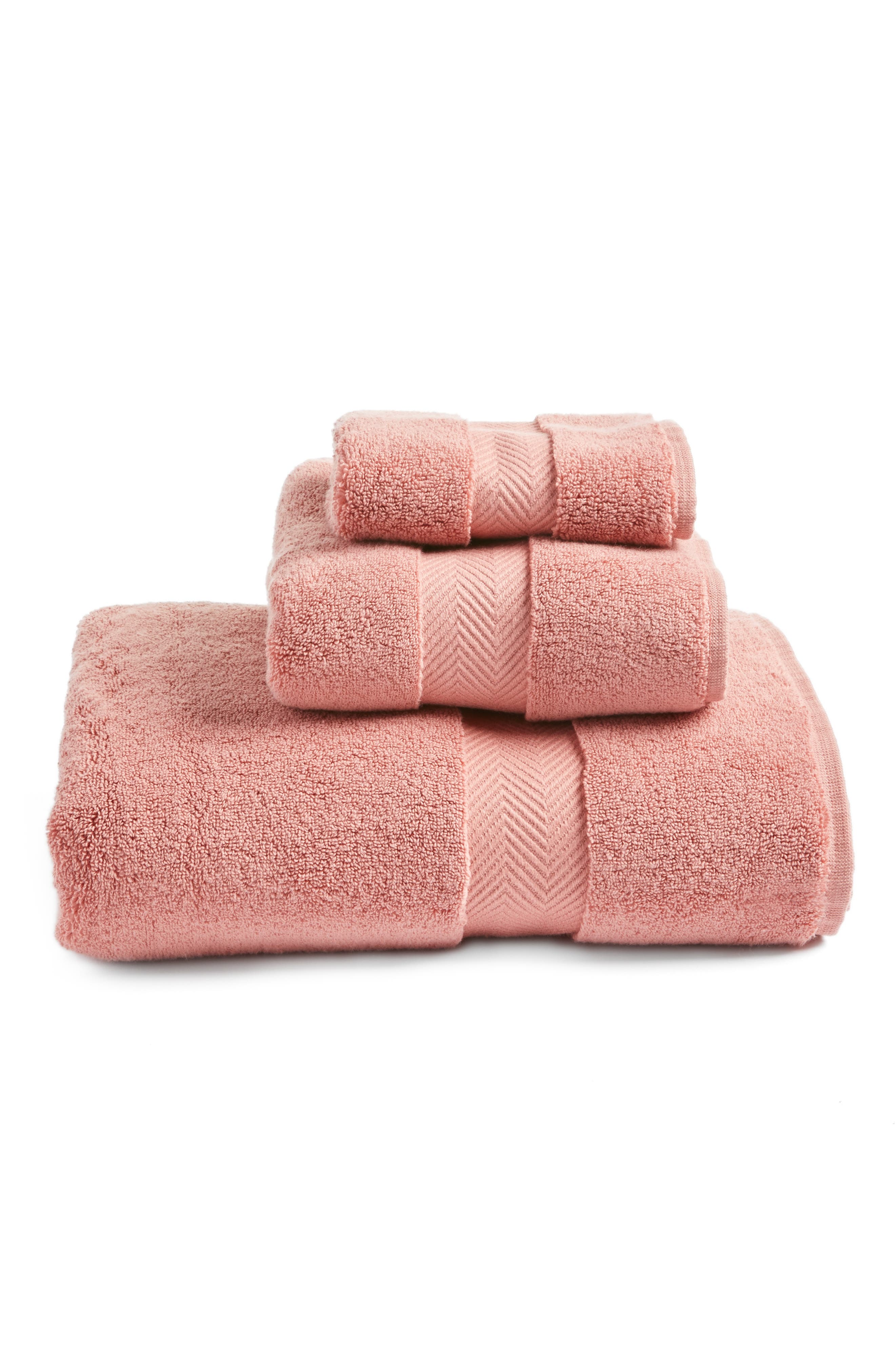 Hydrocotton Hand Towel,                             Alternate thumbnail 3, color,                             Pink Brick