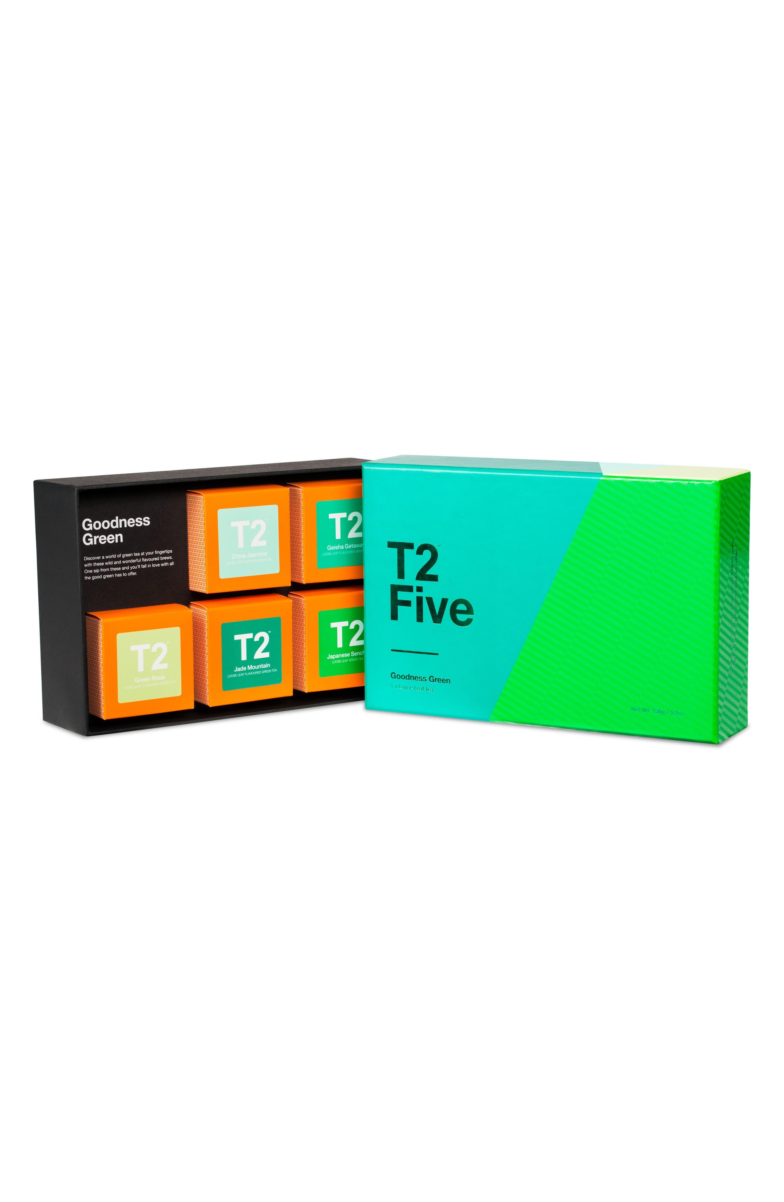 Goodness Green Loose Leaf Tea Box Set,                             Alternate thumbnail 2, color,                             Multi