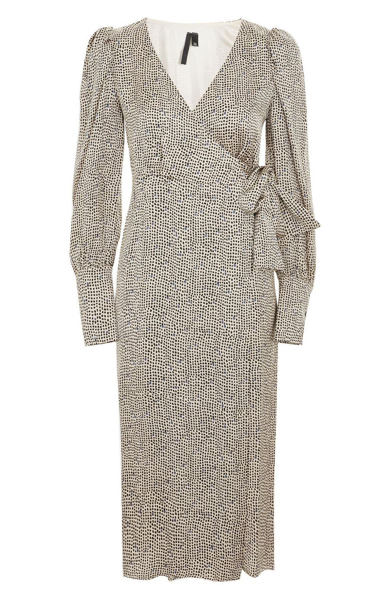 Topshop Boutique Mini Spot Wrap Dress