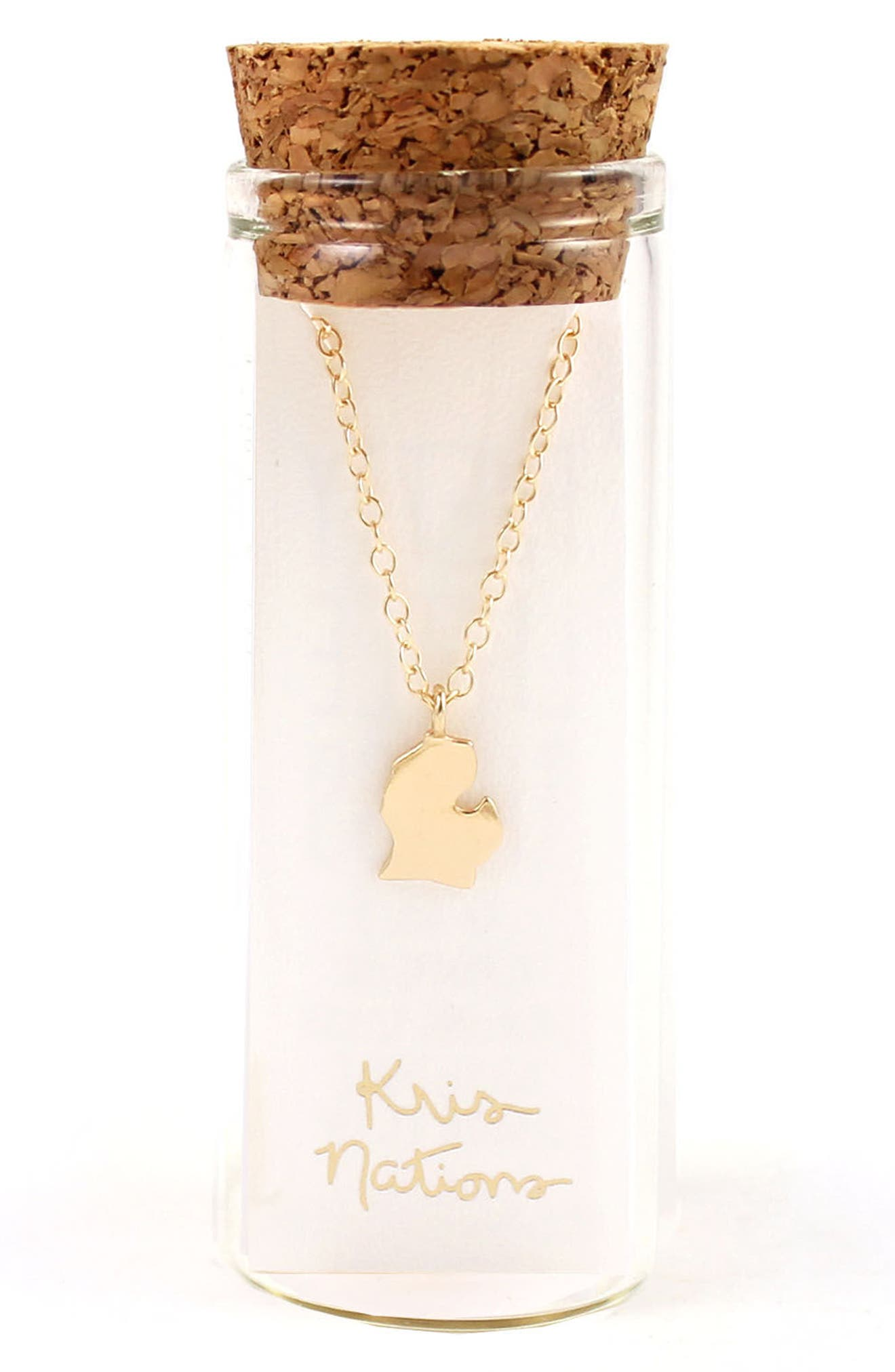 Alternate Image 2  - Kris Nations Solid State Charm Necklace