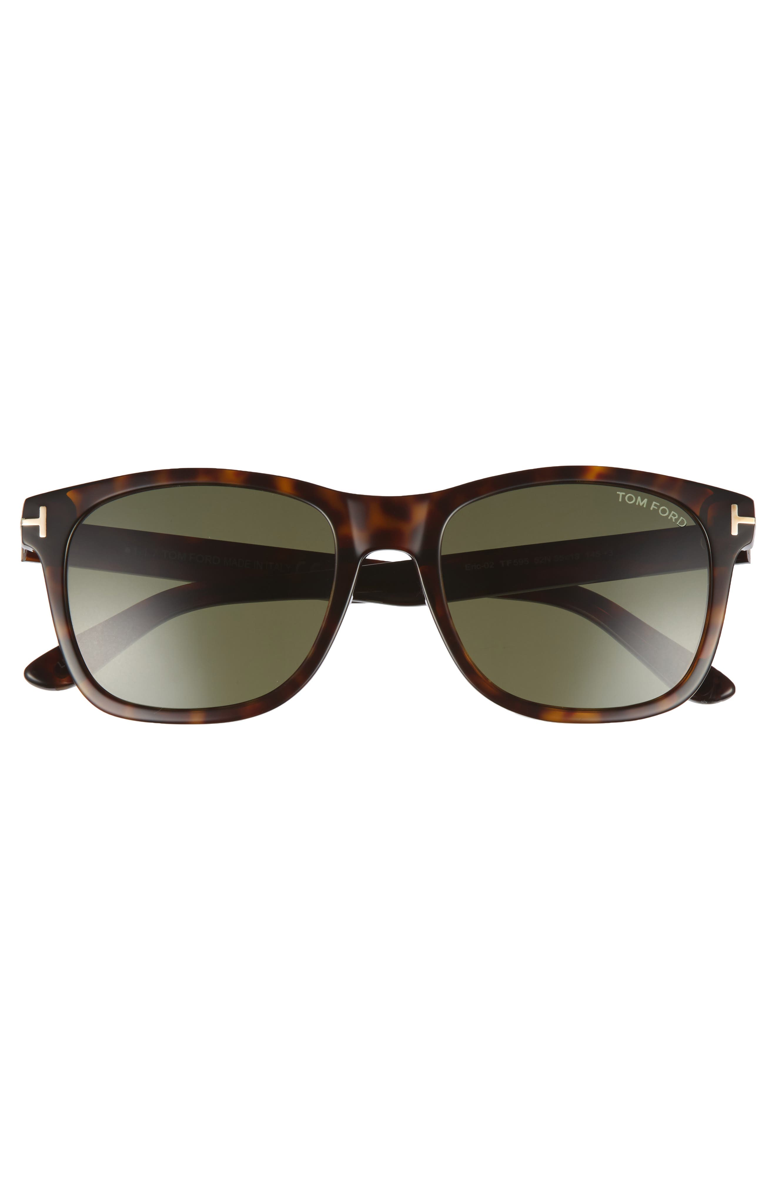 Eric 55mm Sunglasses,                             Alternate thumbnail 2, color,                             Dark Havana/ Green