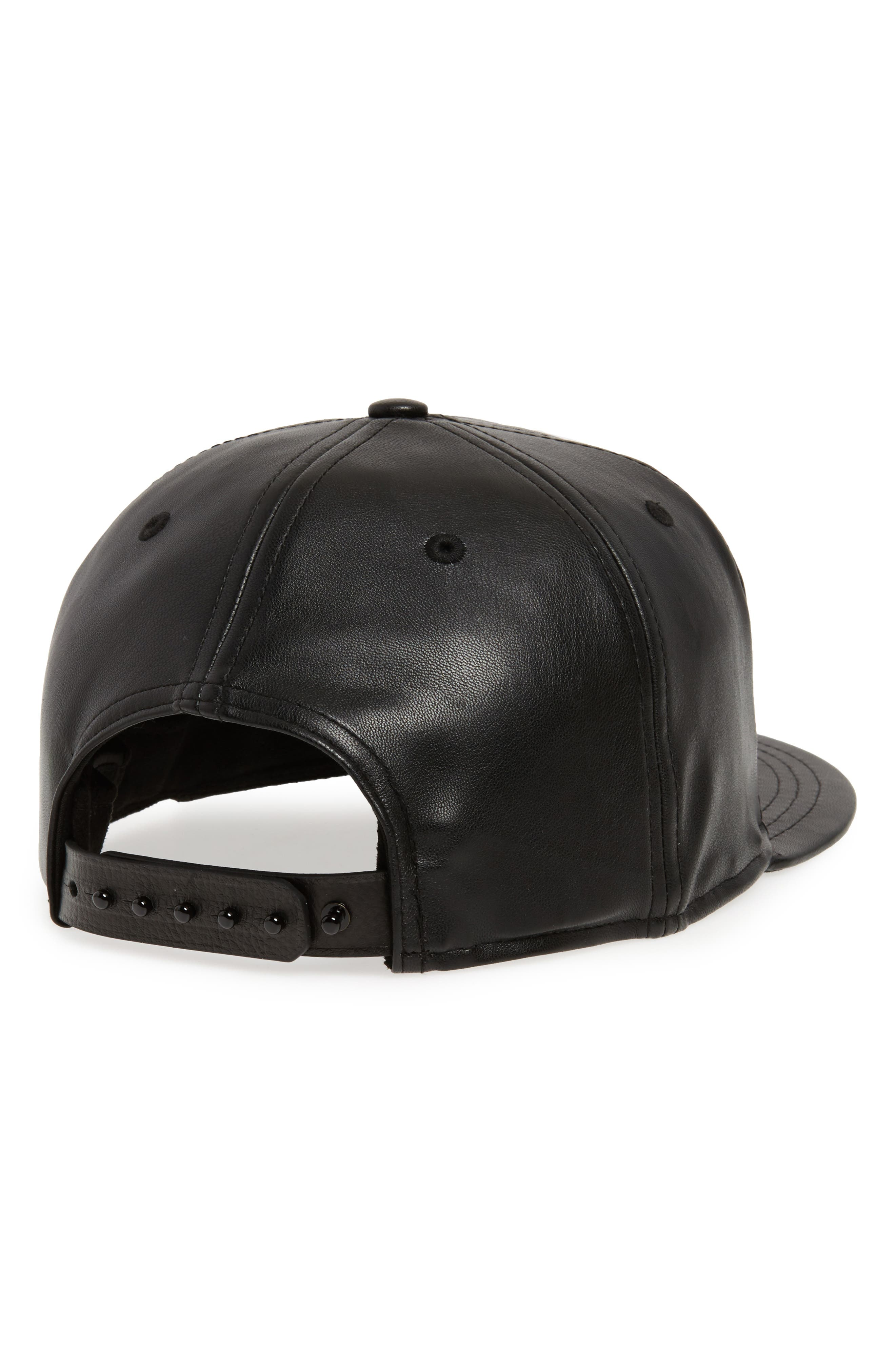 New Era NBA Glossy Faux Leather Snapback Cap,                             Alternate thumbnail 2, color,                             San Antonio Spurs