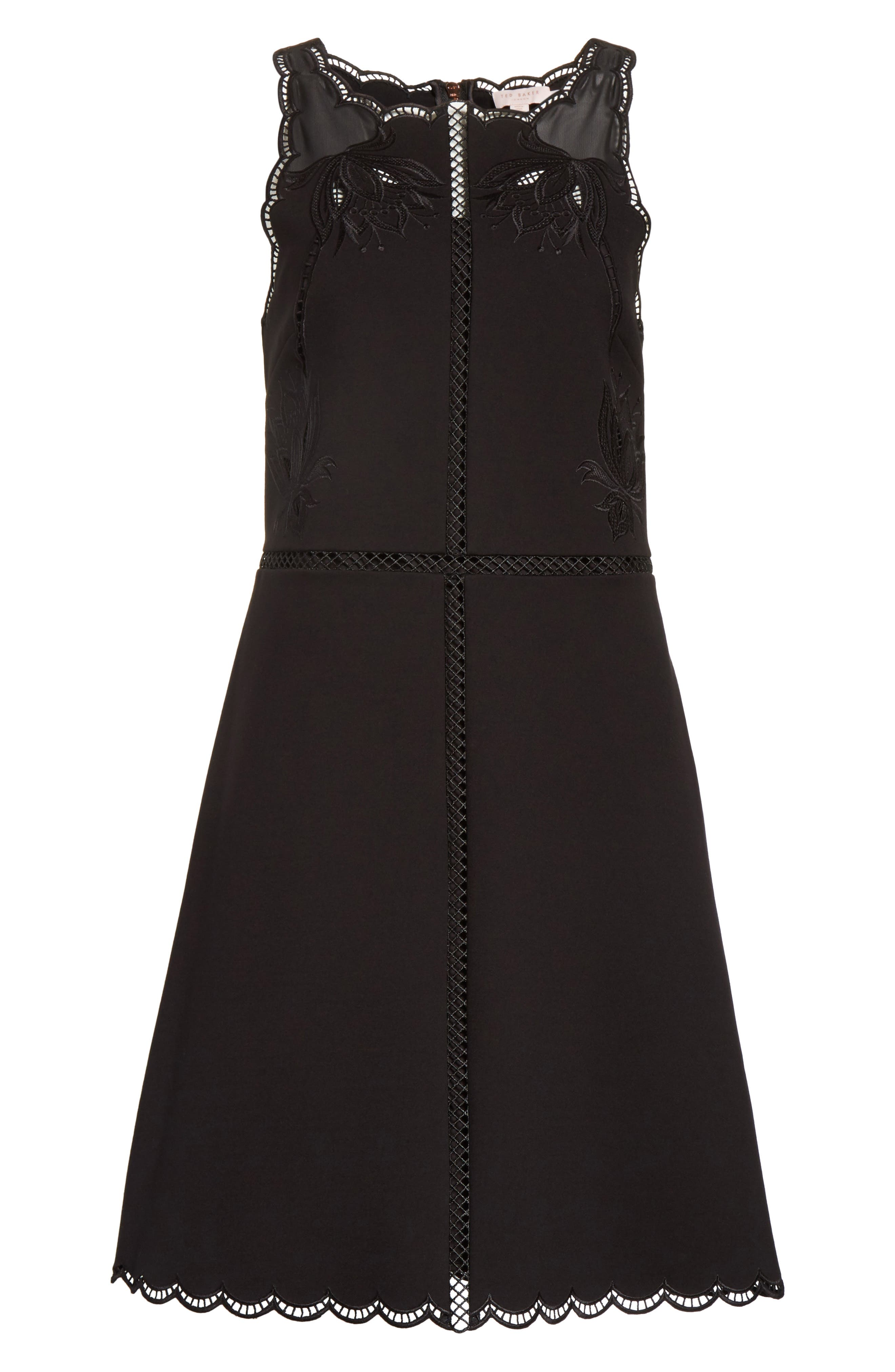 Alternate Image 6  - Ted Baker London Codi Embroidered Scallop A-Line Dress