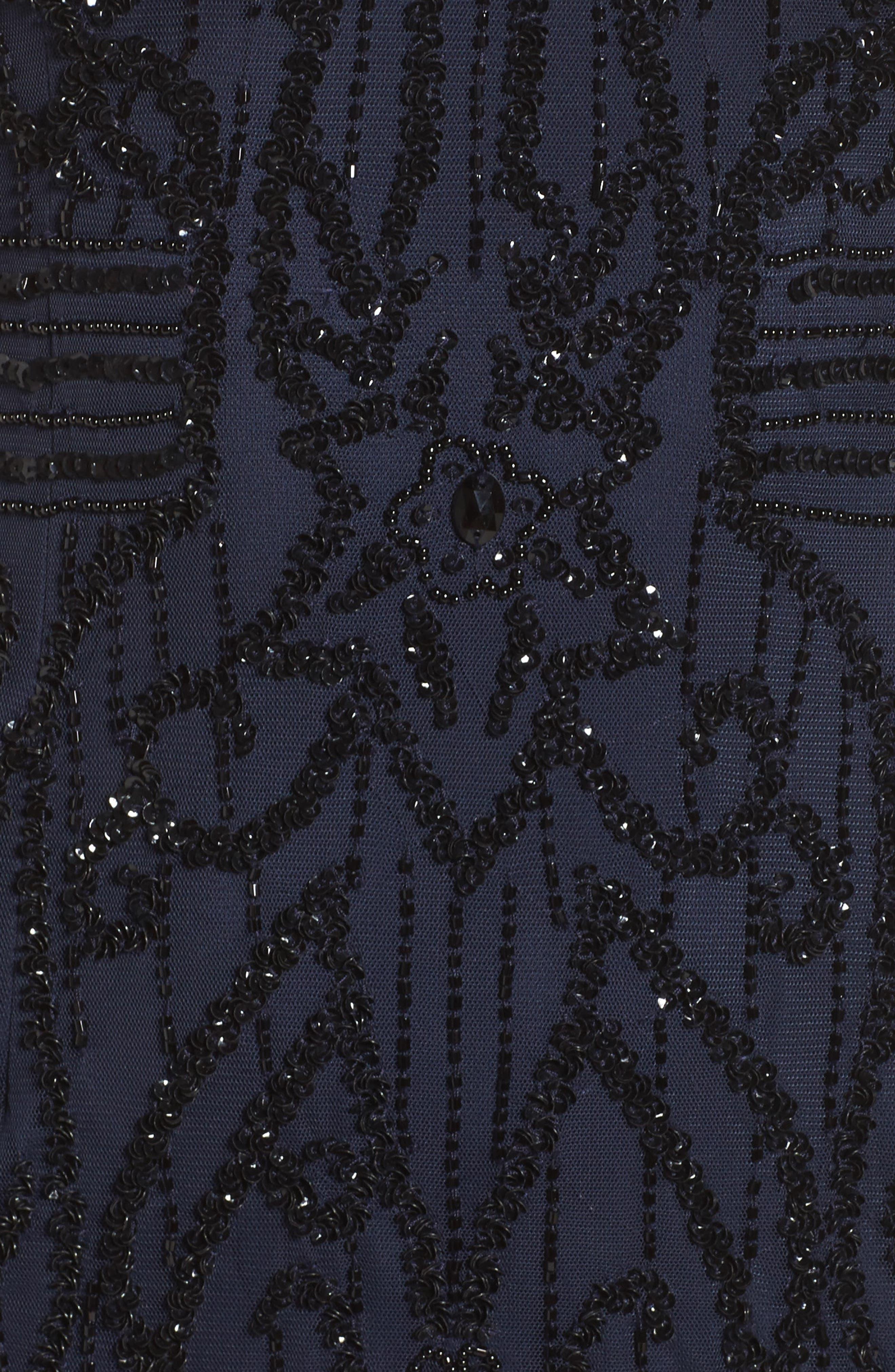 Alternate Image 5  - Adrianna Papell Beaded Mesh Godet Gown