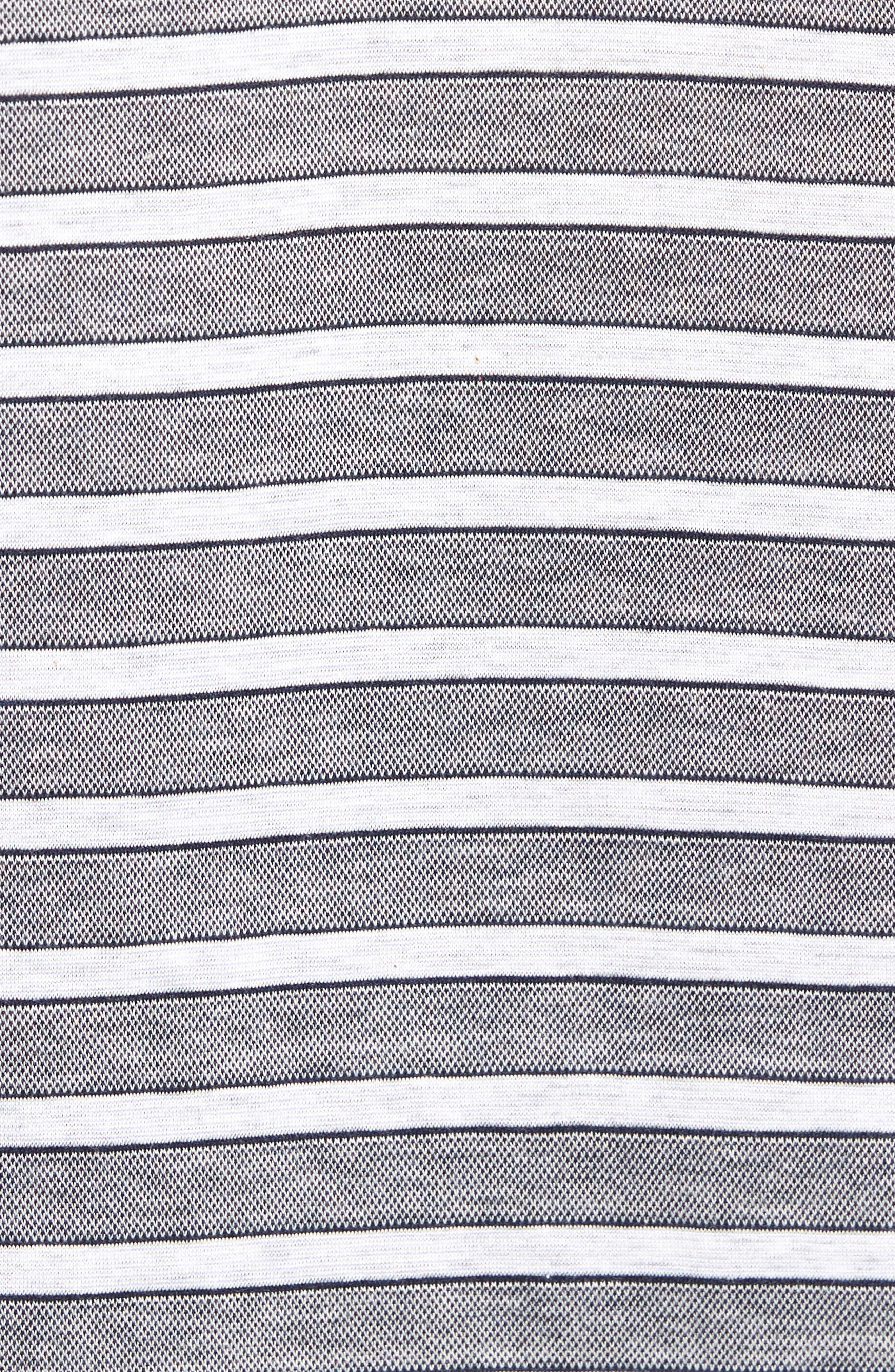 Breene Jacquard Stripe Polo,                             Alternate thumbnail 5, color,                             Midnight Ink
