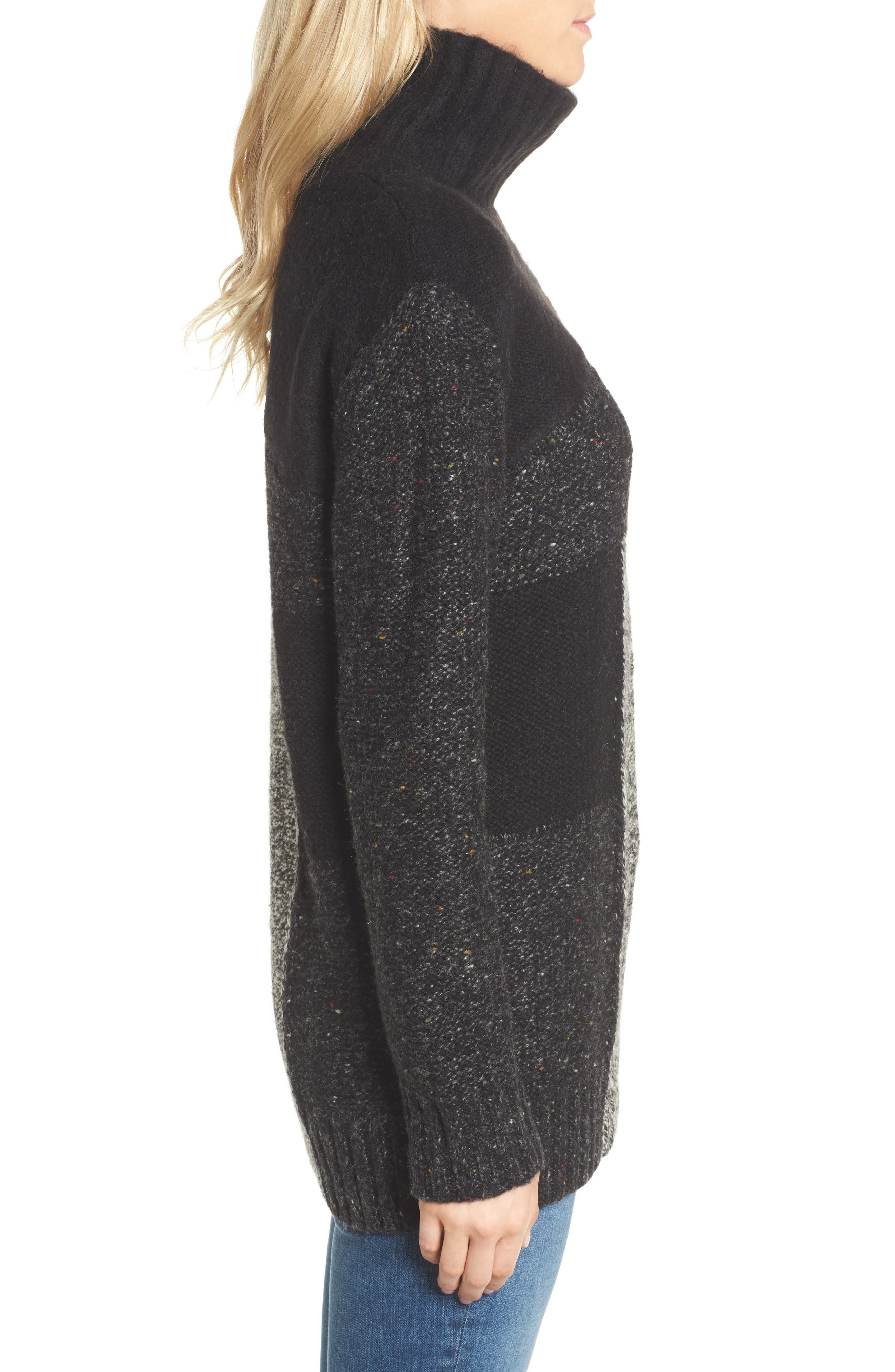 Alternate Image 3  - French Connection Anna Patchwork Turtleneck
