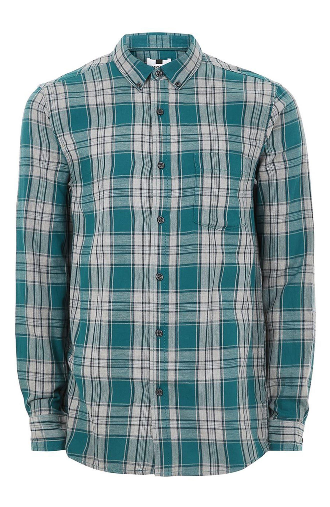 Charlie Check Shirt,                             Alternate thumbnail 4, color,                             Blue Multi