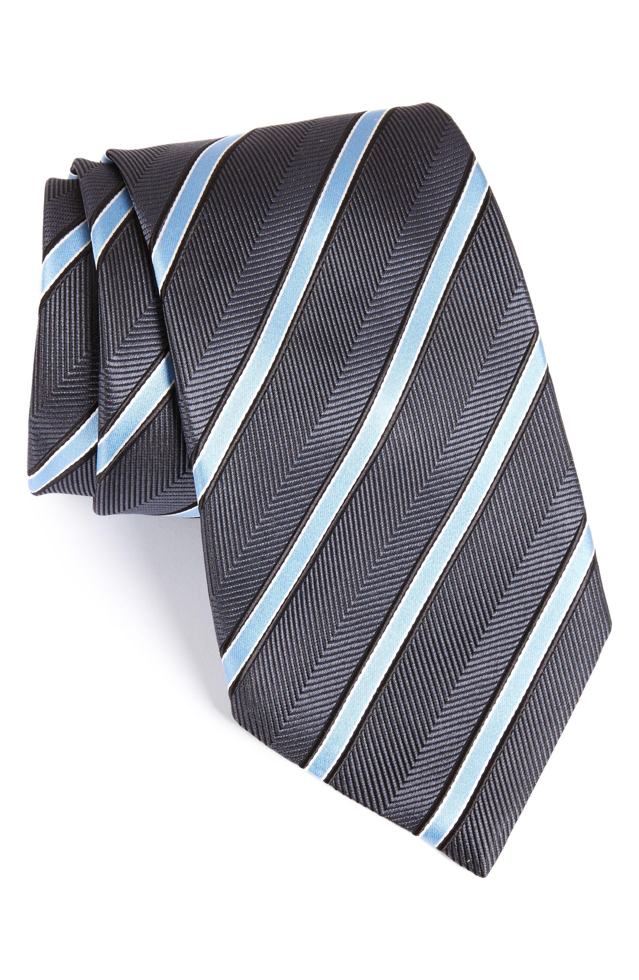 Ermenegildo Zegna Stripe Silk Tie (X-Long)