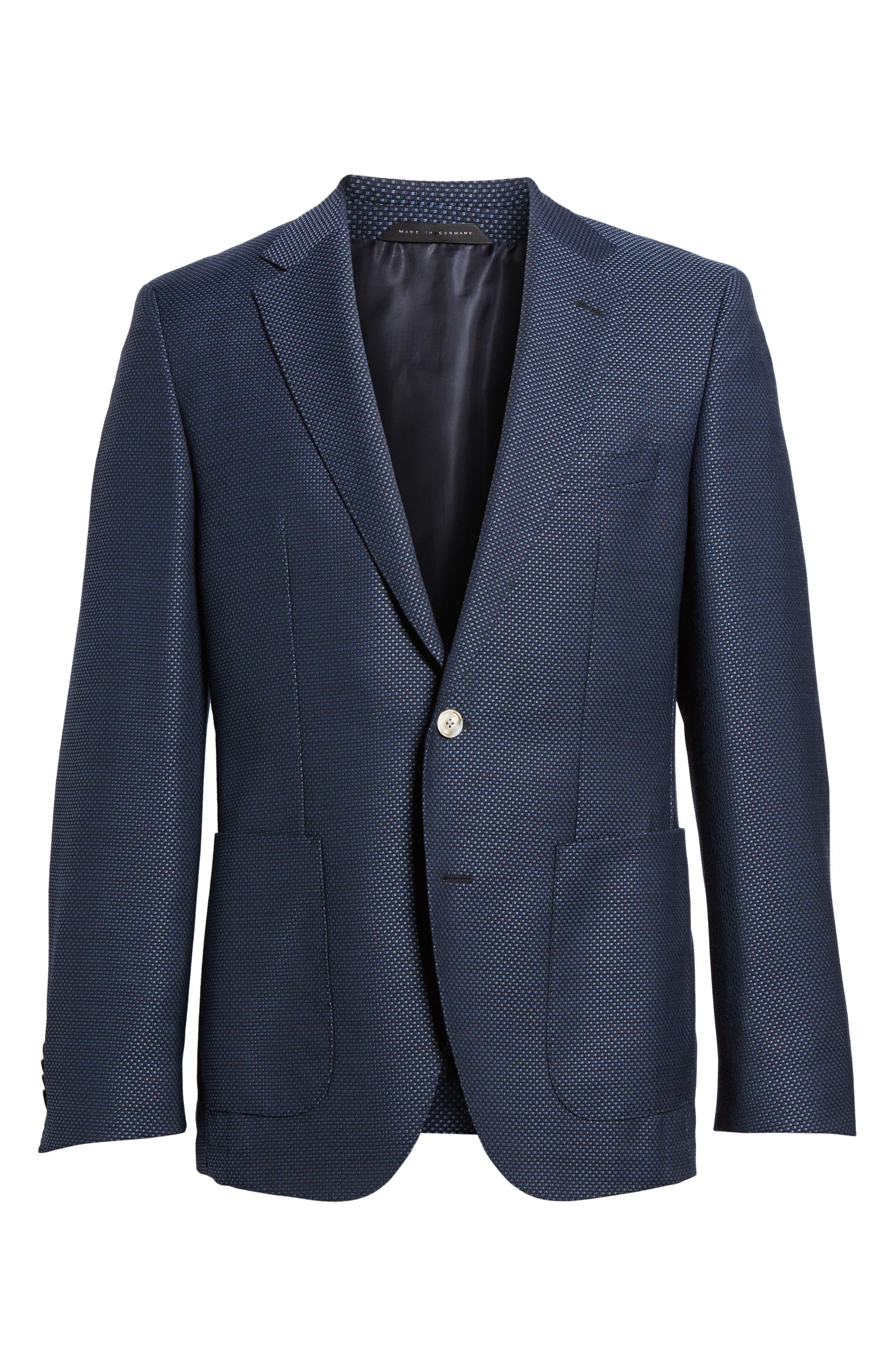 Alternate Image 6  - BOSS Janson Classic Fit Wool Blazer