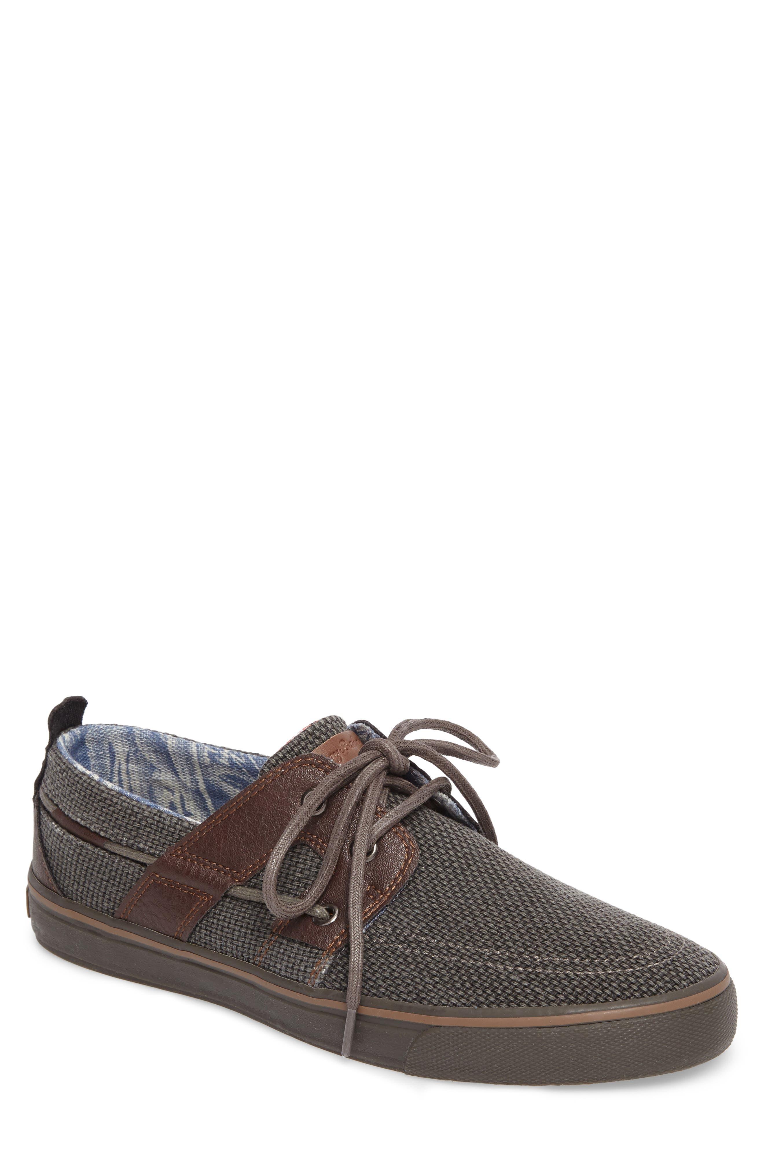 Stripe Breaker Sneaker,                             Main thumbnail 1, color,                             Dark Grey/ Dark Brown