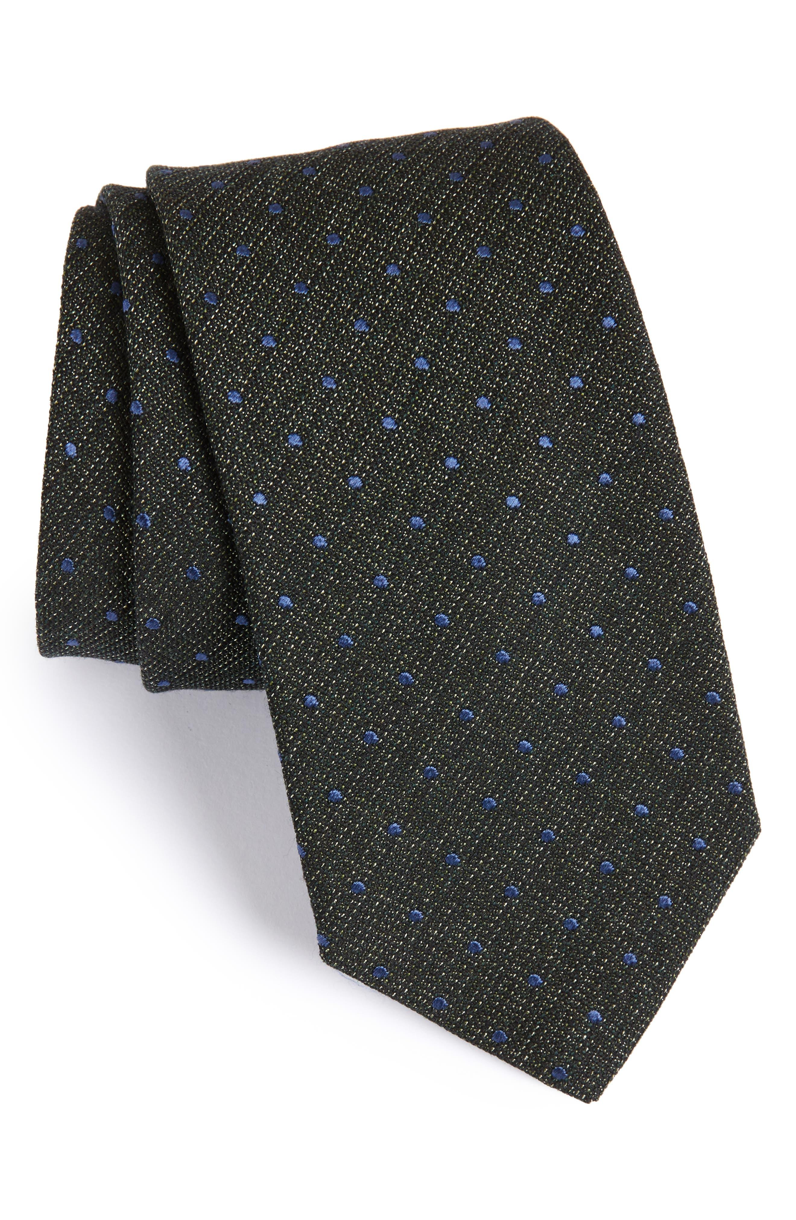 Eton Dot Cotton, Silk & Wool Tie