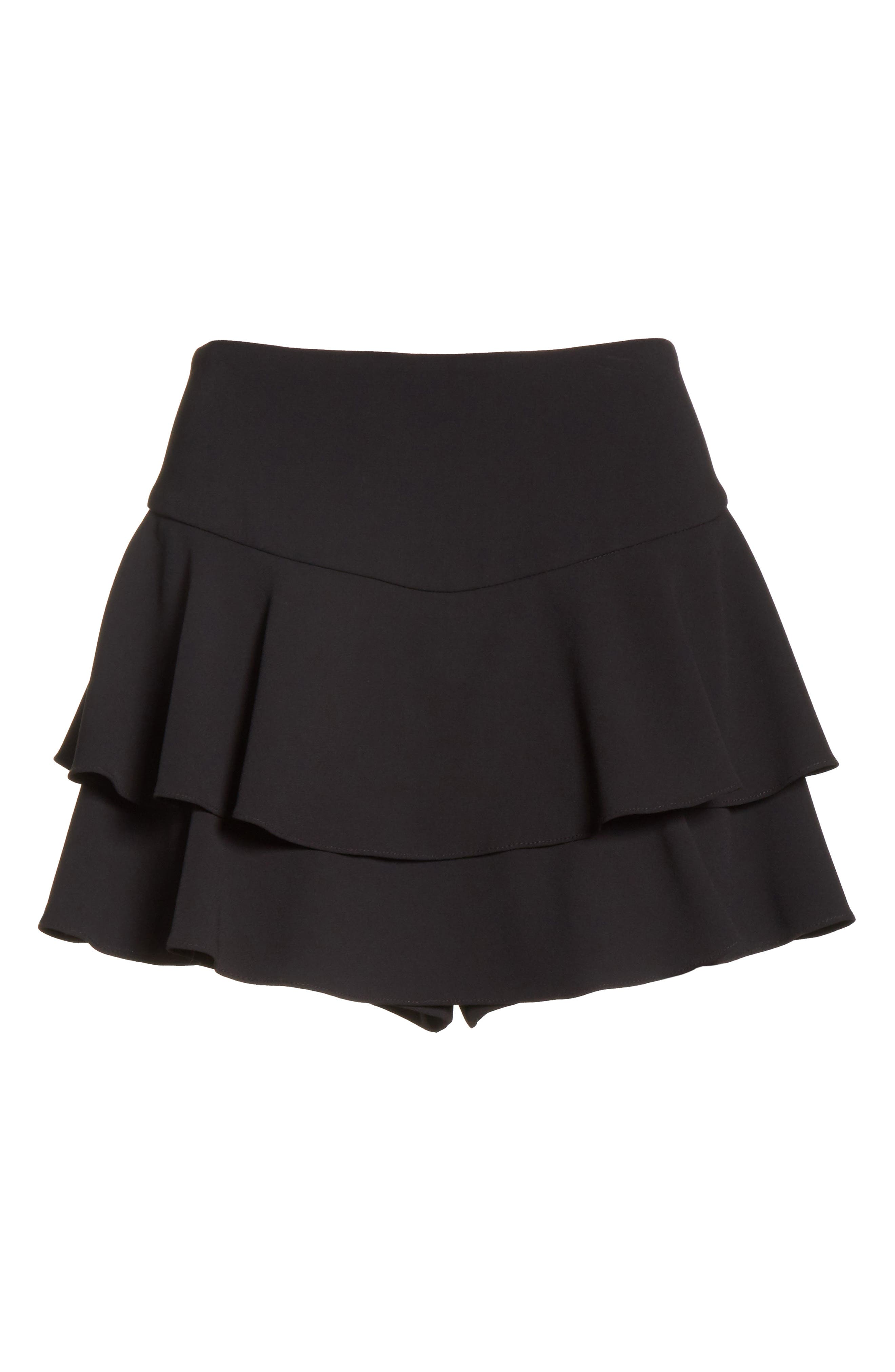 Paloma Ruffle Skort,                             Alternate thumbnail 6, color,                             Black