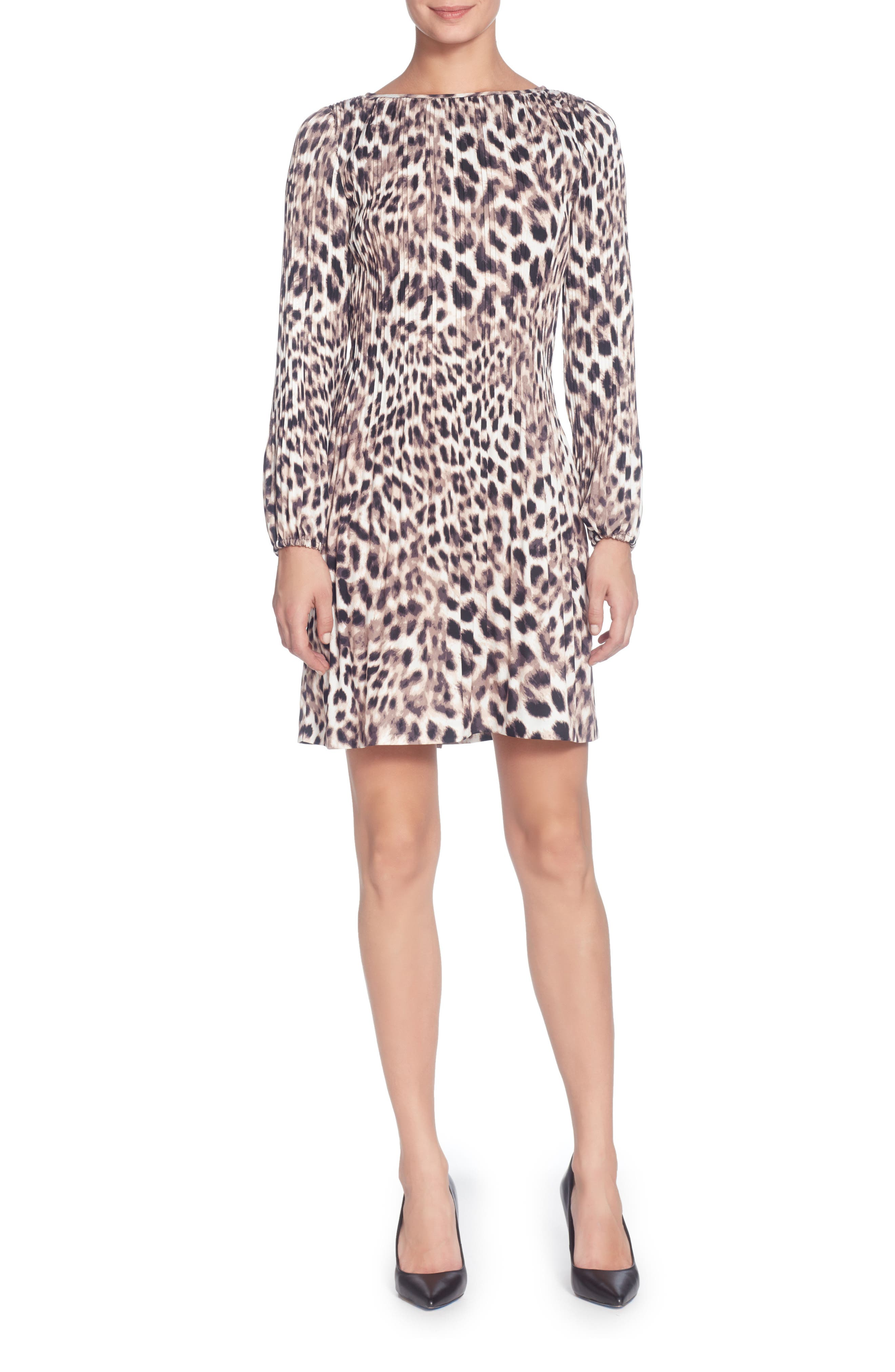 Petra Dress,                         Main,                         color, Snow Leopard