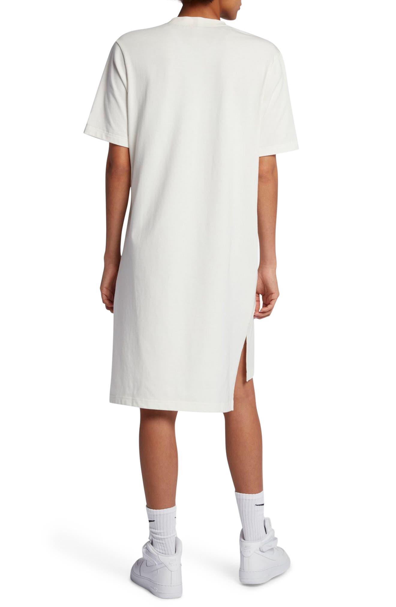 NikeLab Essentials T-Shirt Dress,                             Alternate thumbnail 2, color,                             Sail/ Black