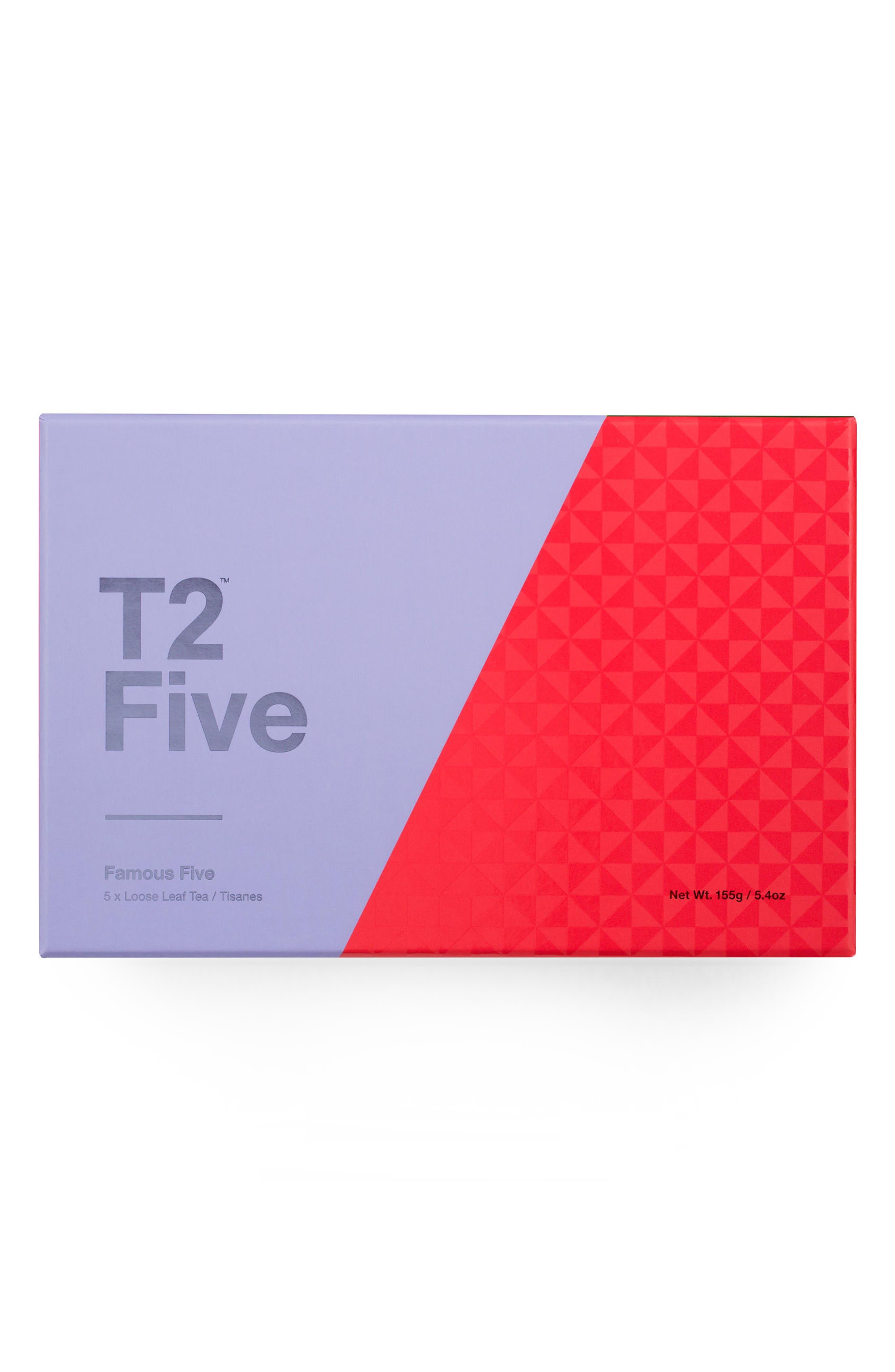 T2 Tea Five Famous Fives Loose Leaf Tea Box Set