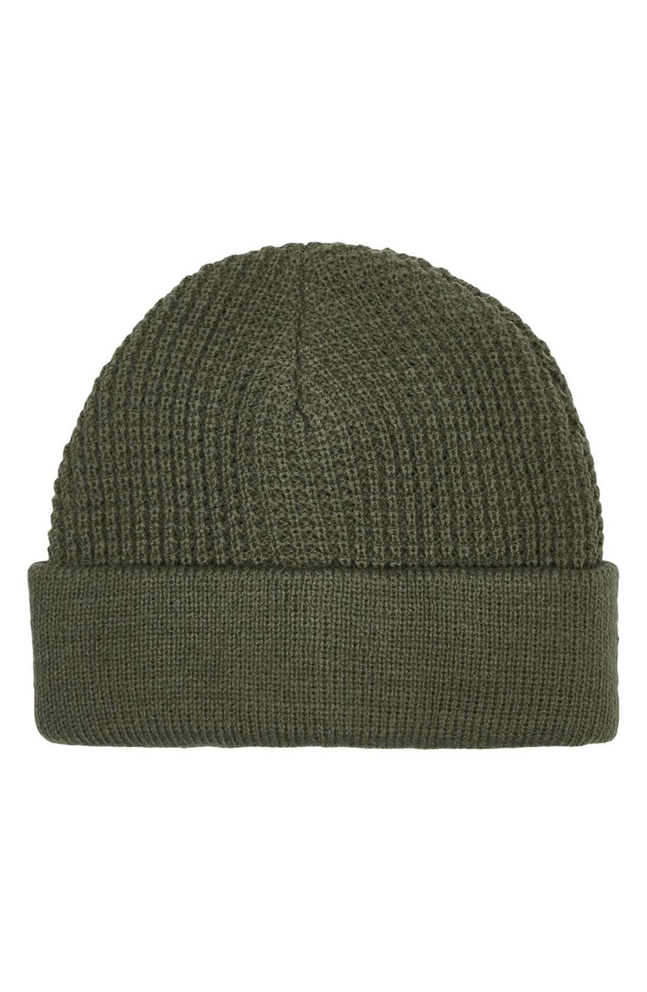 Knit Beanie,                             Main thumbnail 1, color,                             Olive