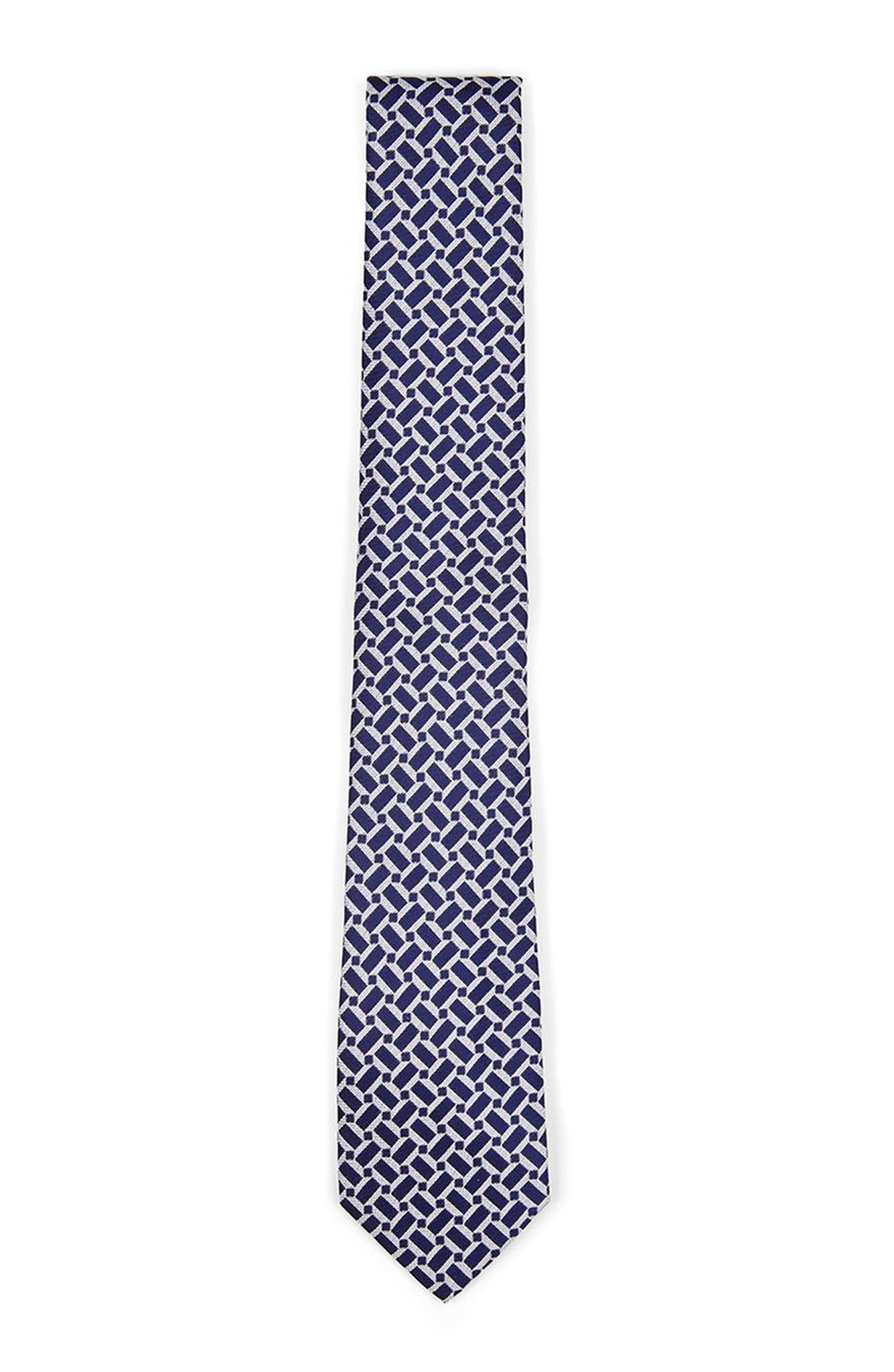 Geo Print Woven Tie,                             Main thumbnail 1, color,                             Blue Multi