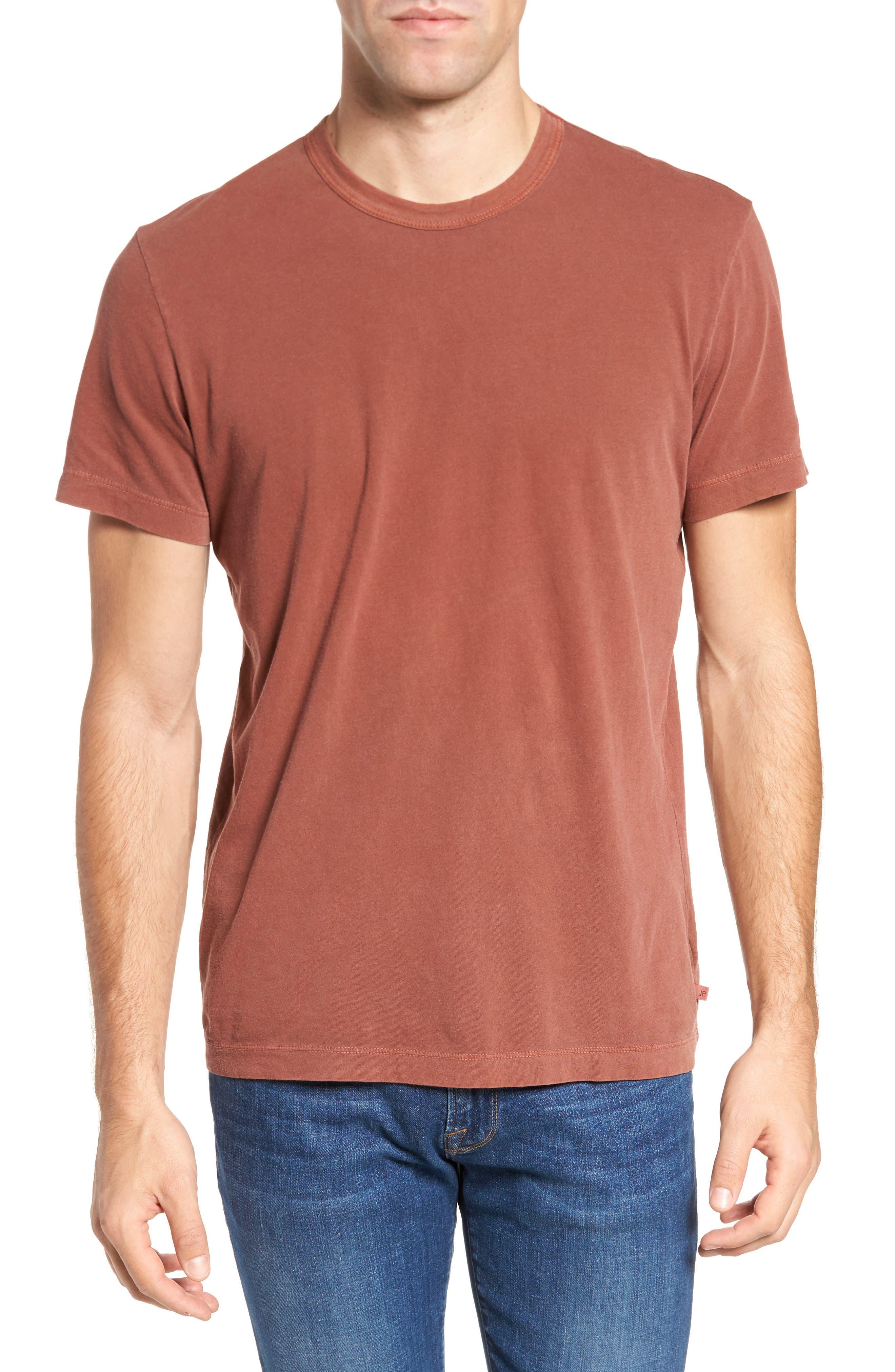 Crewneck Jersey T-Shirt,                         Main,                         color, Red Clay