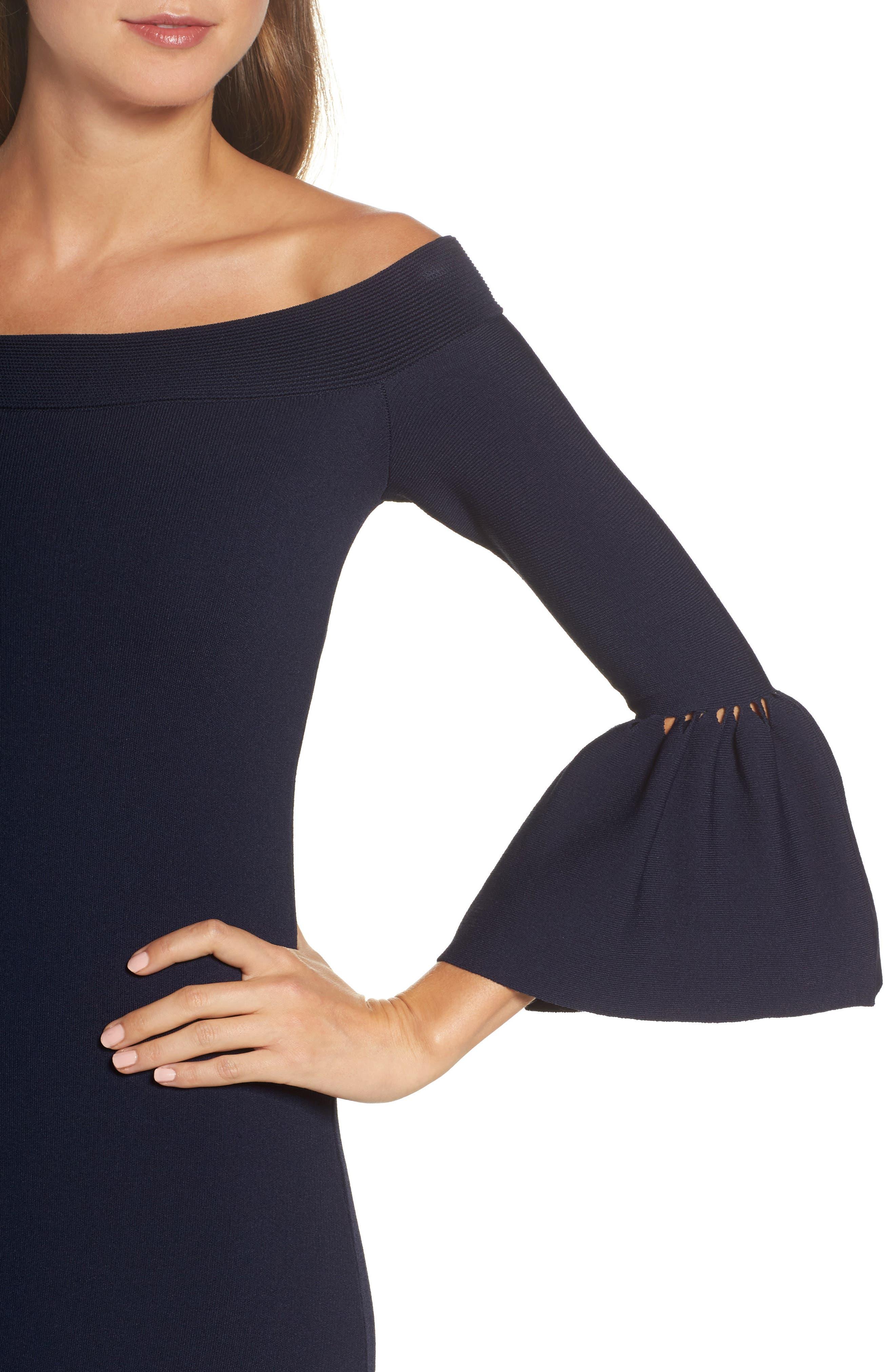 Alternate Image 4  - Eliza J Off the Shoulder Flare Hem Dress
