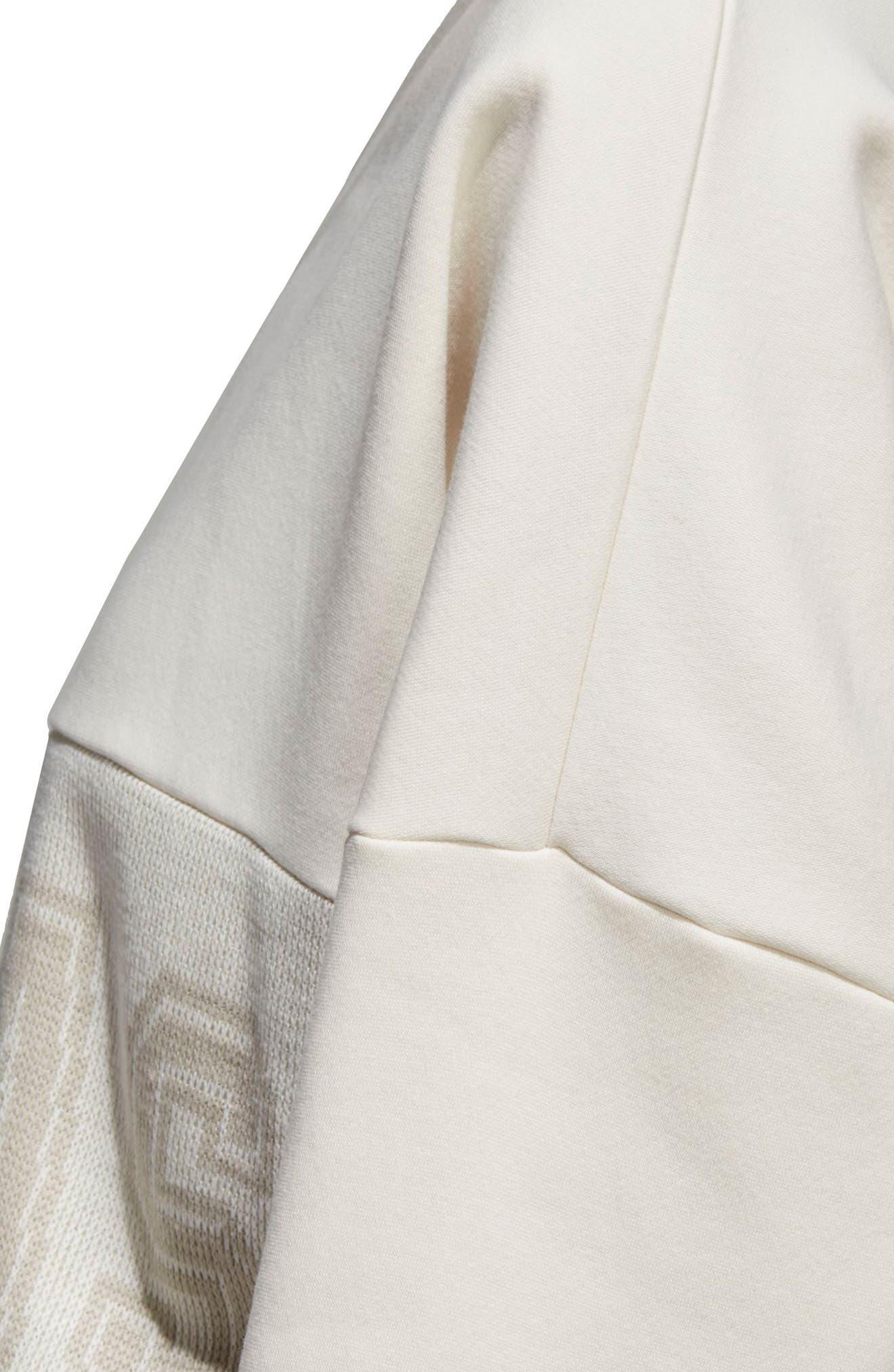 Originals Adibreak Sweatshirt,                             Alternate thumbnail 4, color,                             Chalk White/ Chalk White
