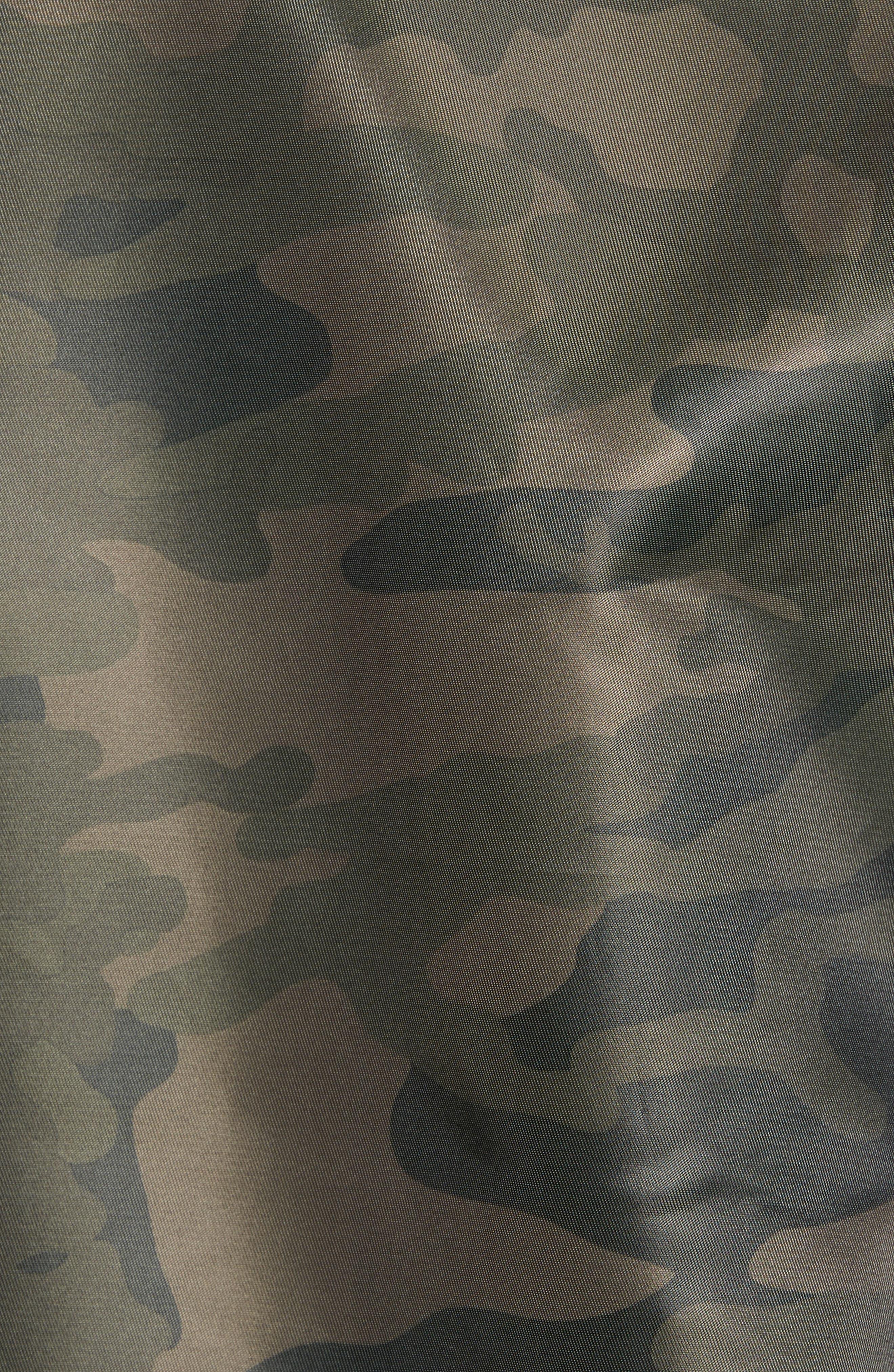 Nylon Bomber Jacket,                             Alternate thumbnail 5, color,                             Olive Dark Camouflage