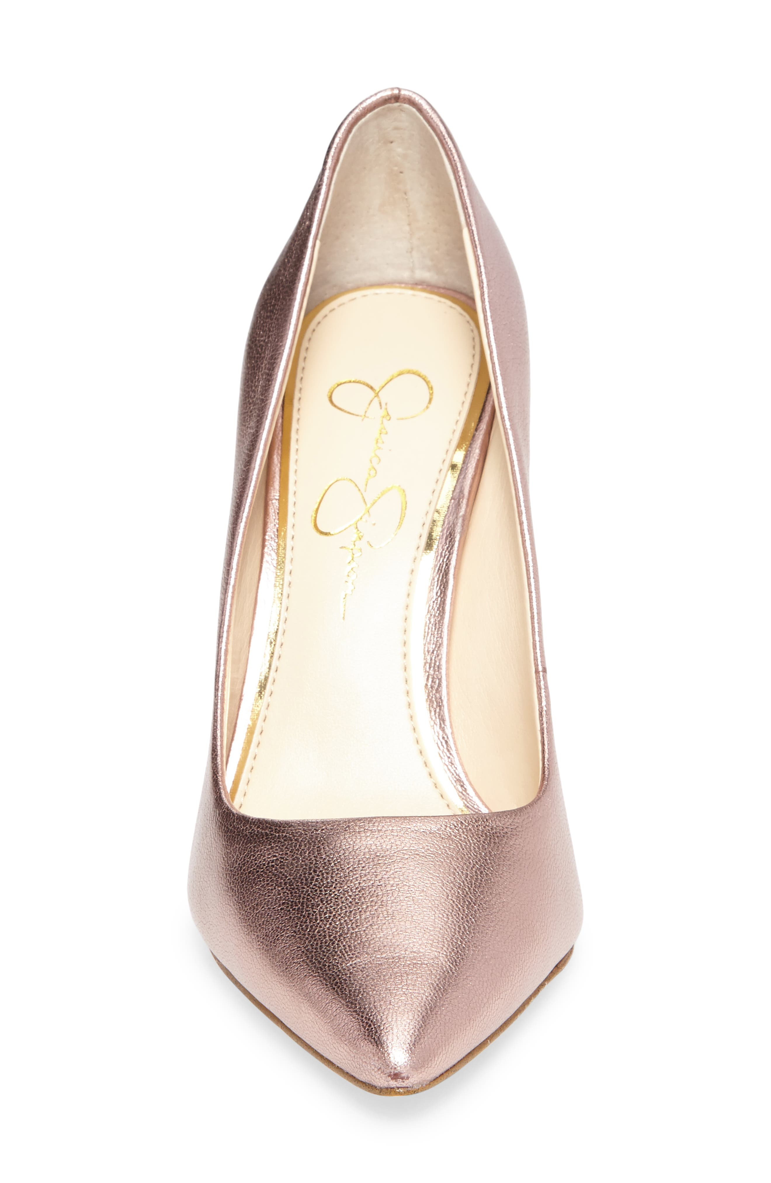 Praylee Pointy Toe Pump,                             Alternate thumbnail 4, color,                             Dolly Pink Leather