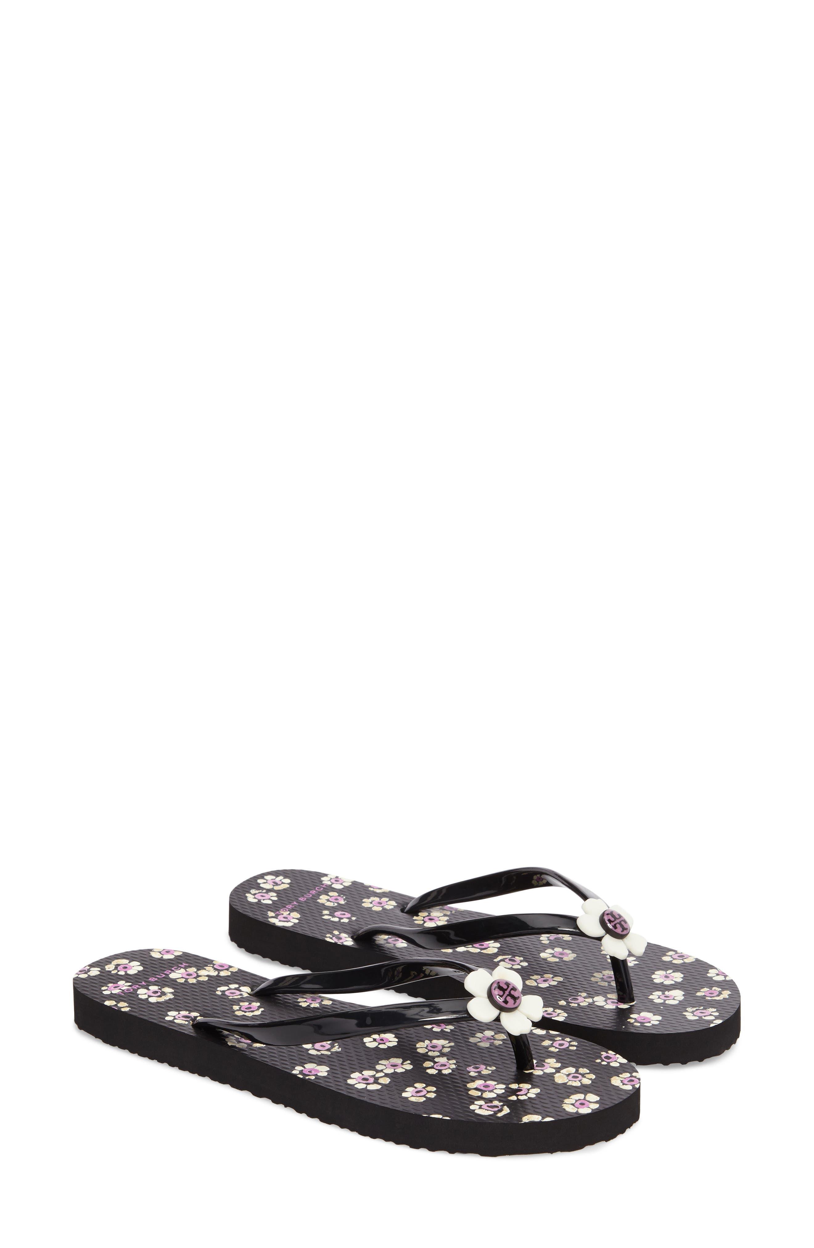 Alternate Image 1 Selected - Tory Burch Flower Flip-Flop (Women)