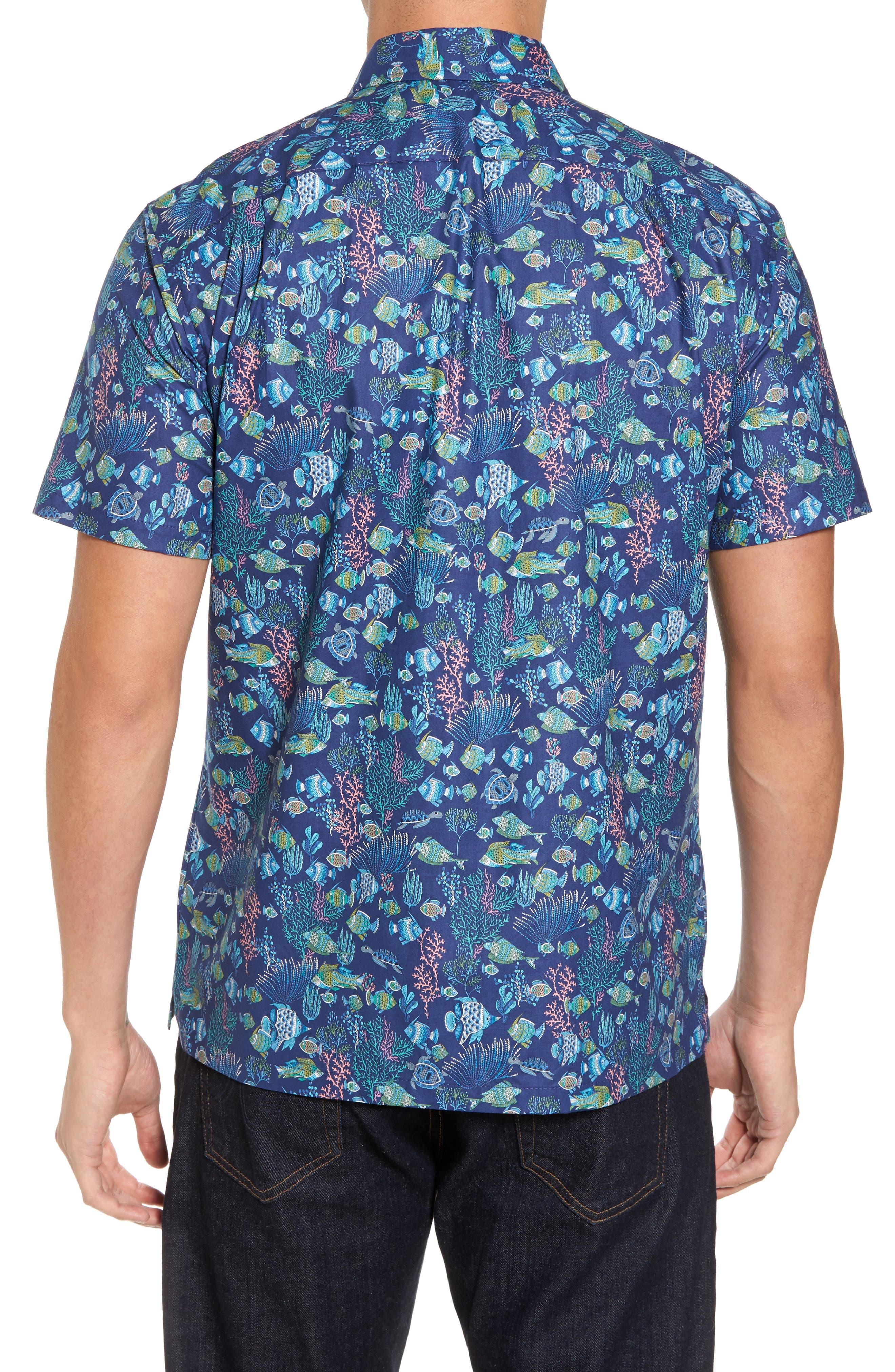 Alternate Image 2  - Tori Richard Aquaculture Slim Fit Camp Shirt