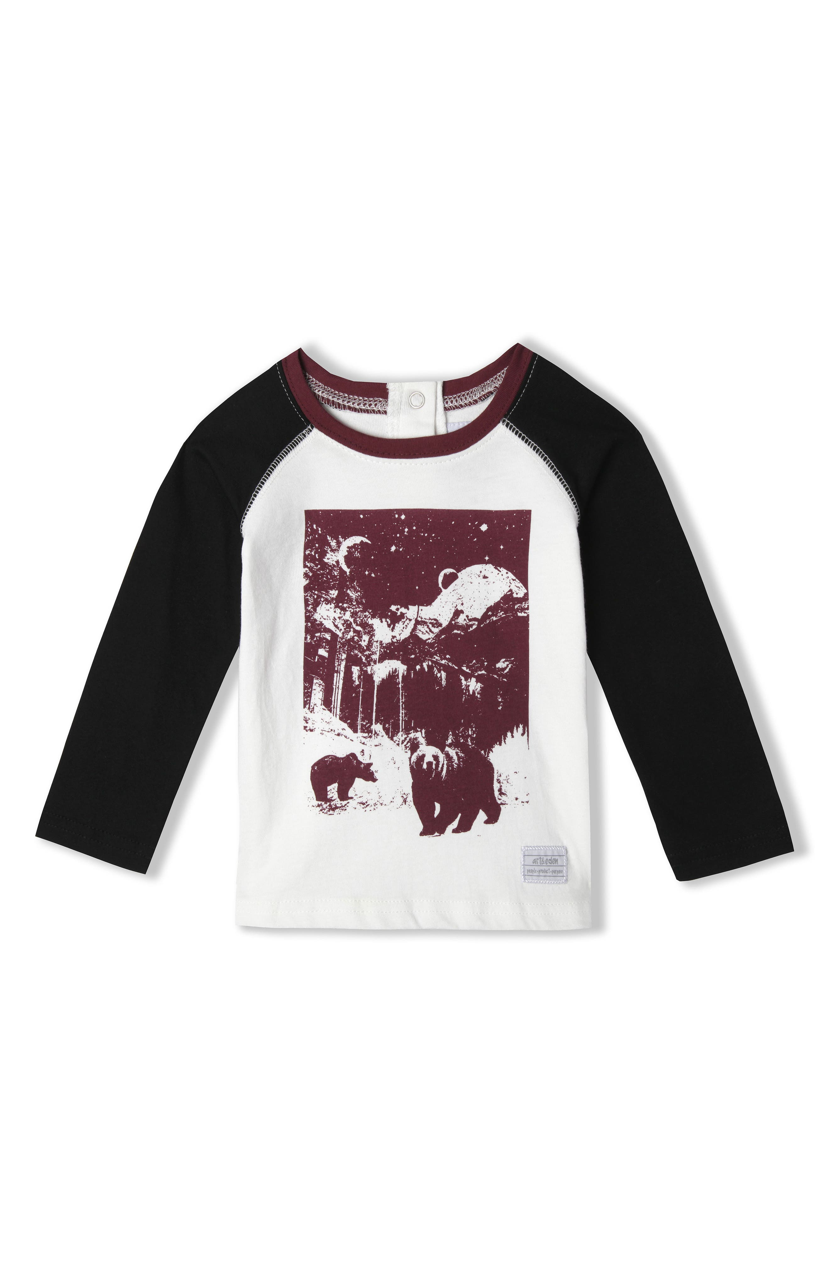 Aaron Organic Cotton T-Shirt,                         Main,                         color, Egret