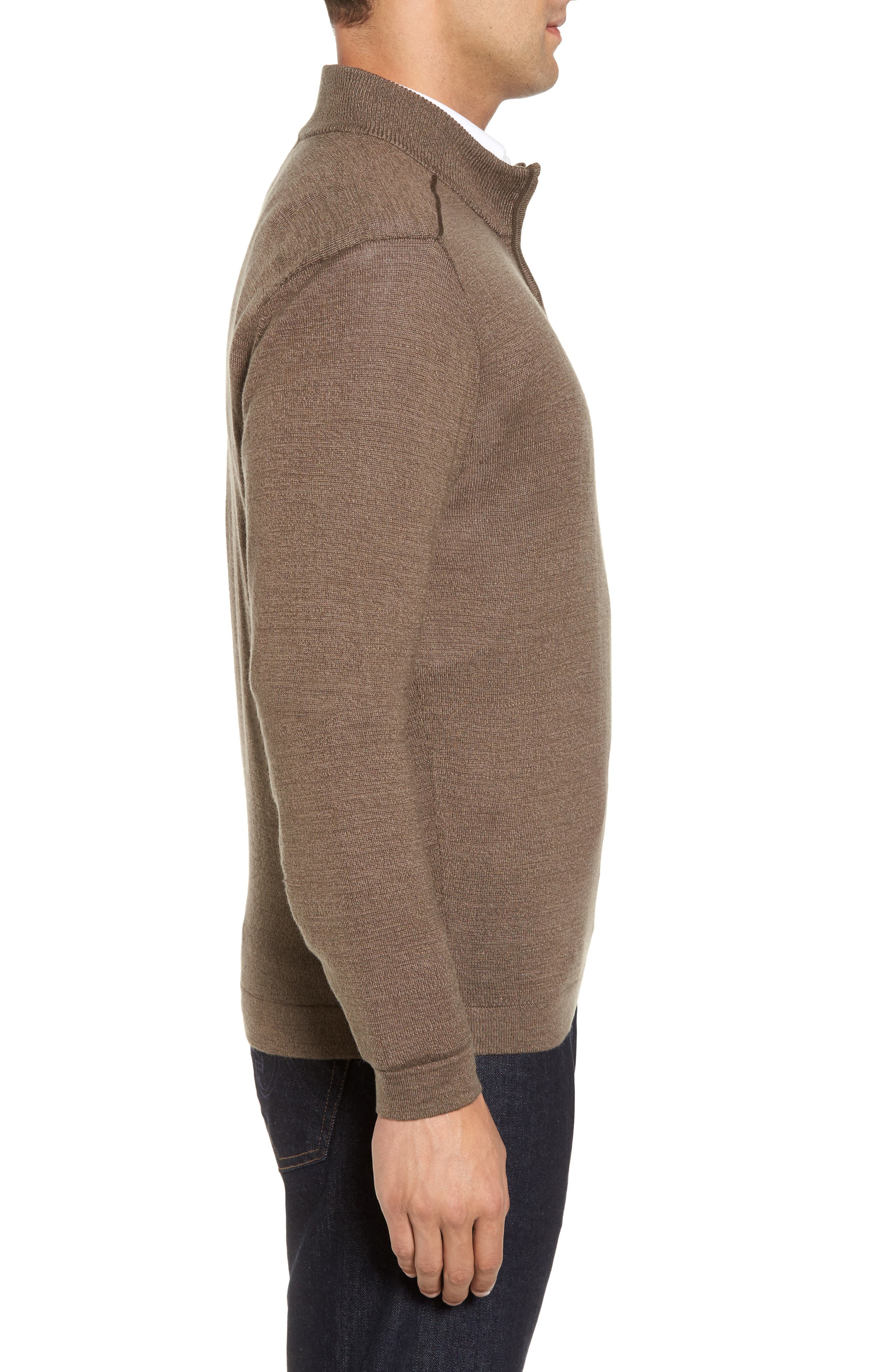 Henry Quarter-Zip Pullover Sweater,                             Alternate thumbnail 3, color,                             Twig