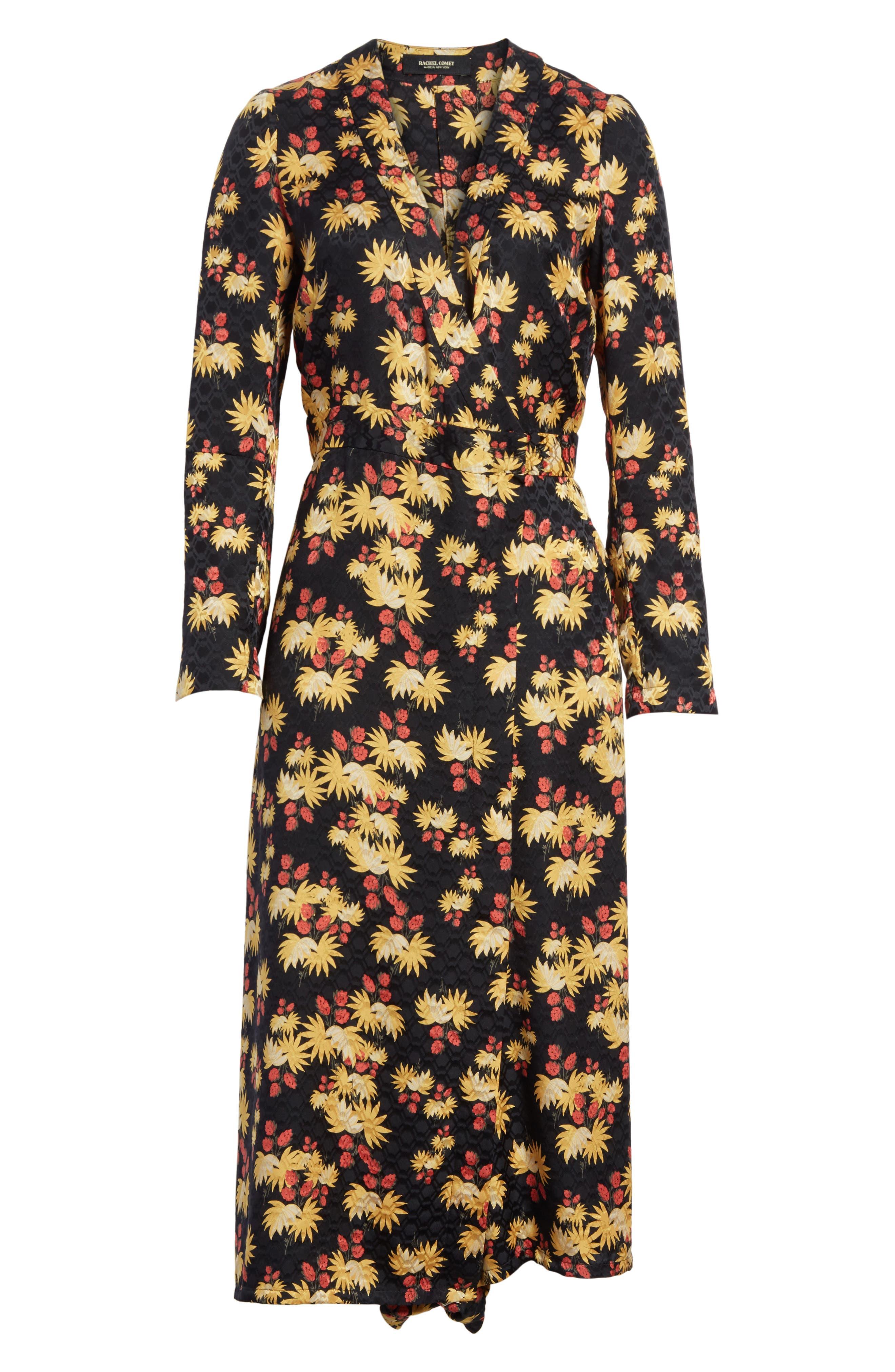 Uvalde Print Silk Jumpsuit,                             Alternate thumbnail 6, color,                             Black Multi