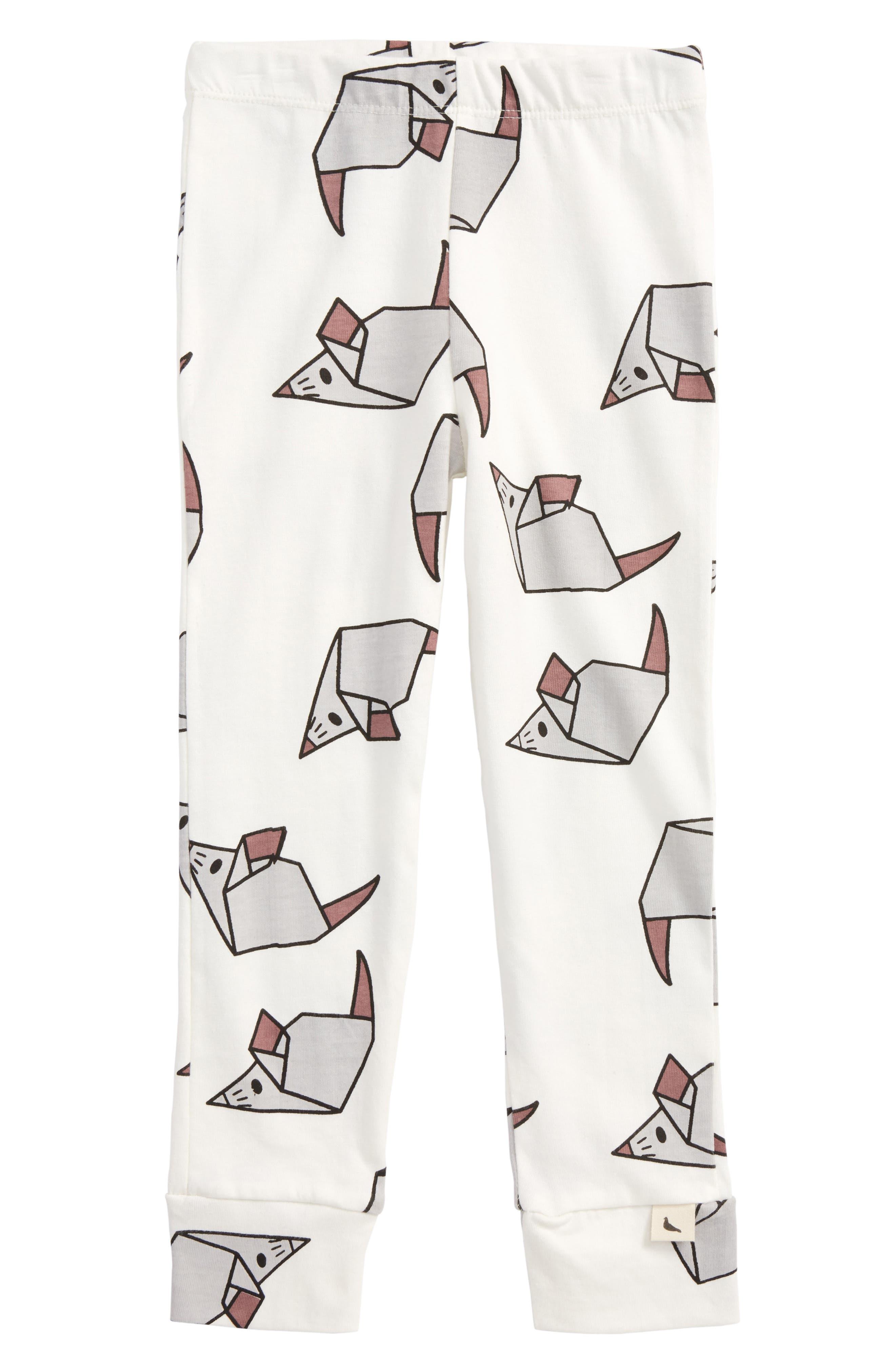 Turtledove London Origami Mouse Organic Cotton Leggings (Toddler Girls)
